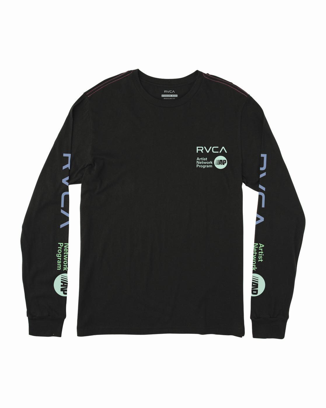 0 ANP LONG SLEEVE T-SHIRT Black M4631RAN RVCA