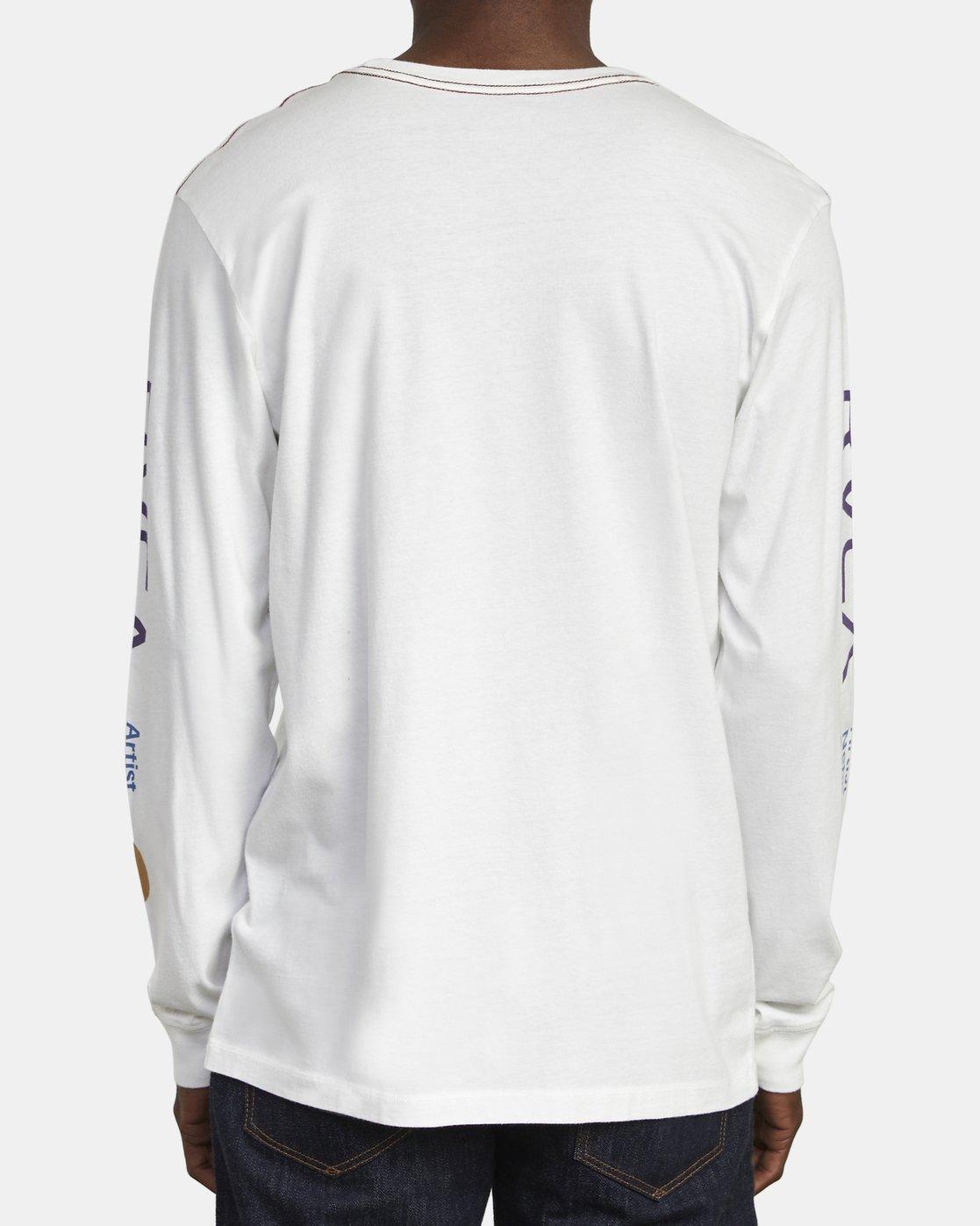 5 ANP LONG SLEEVE T-SHIRT White M4631RAN RVCA