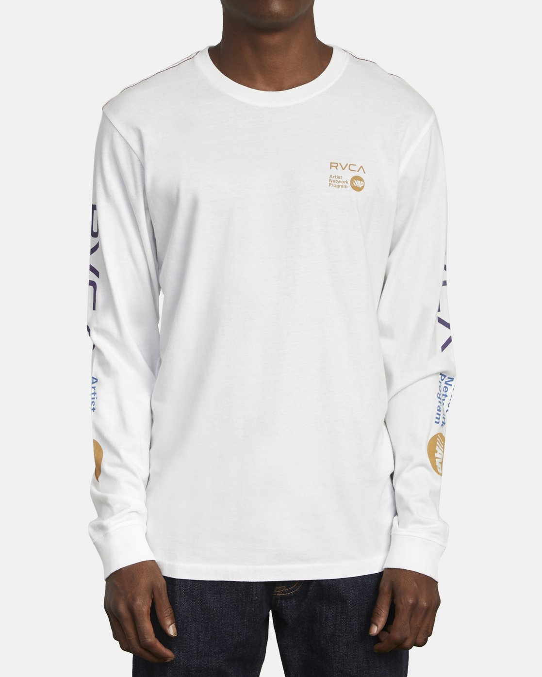 1 ANP LONG SLEEVE T-SHIRT White M4631RAN RVCA