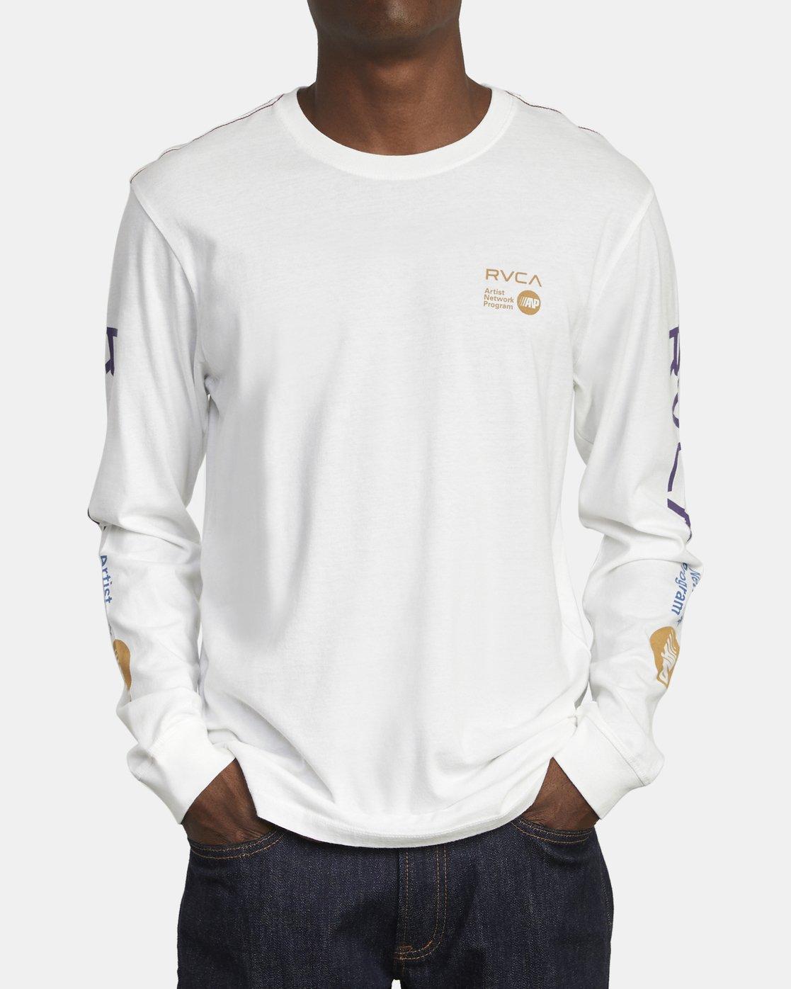 2 ANP LONG SLEEVE T-SHIRT White M4631RAN RVCA