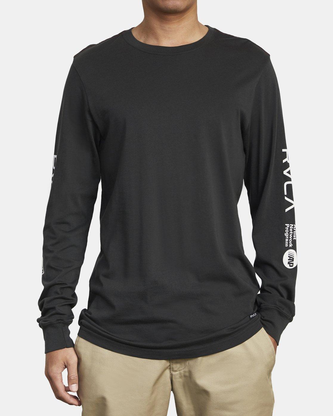 2 ANP LONG SLEEVE T-SHIRT Black M4631RAN RVCA