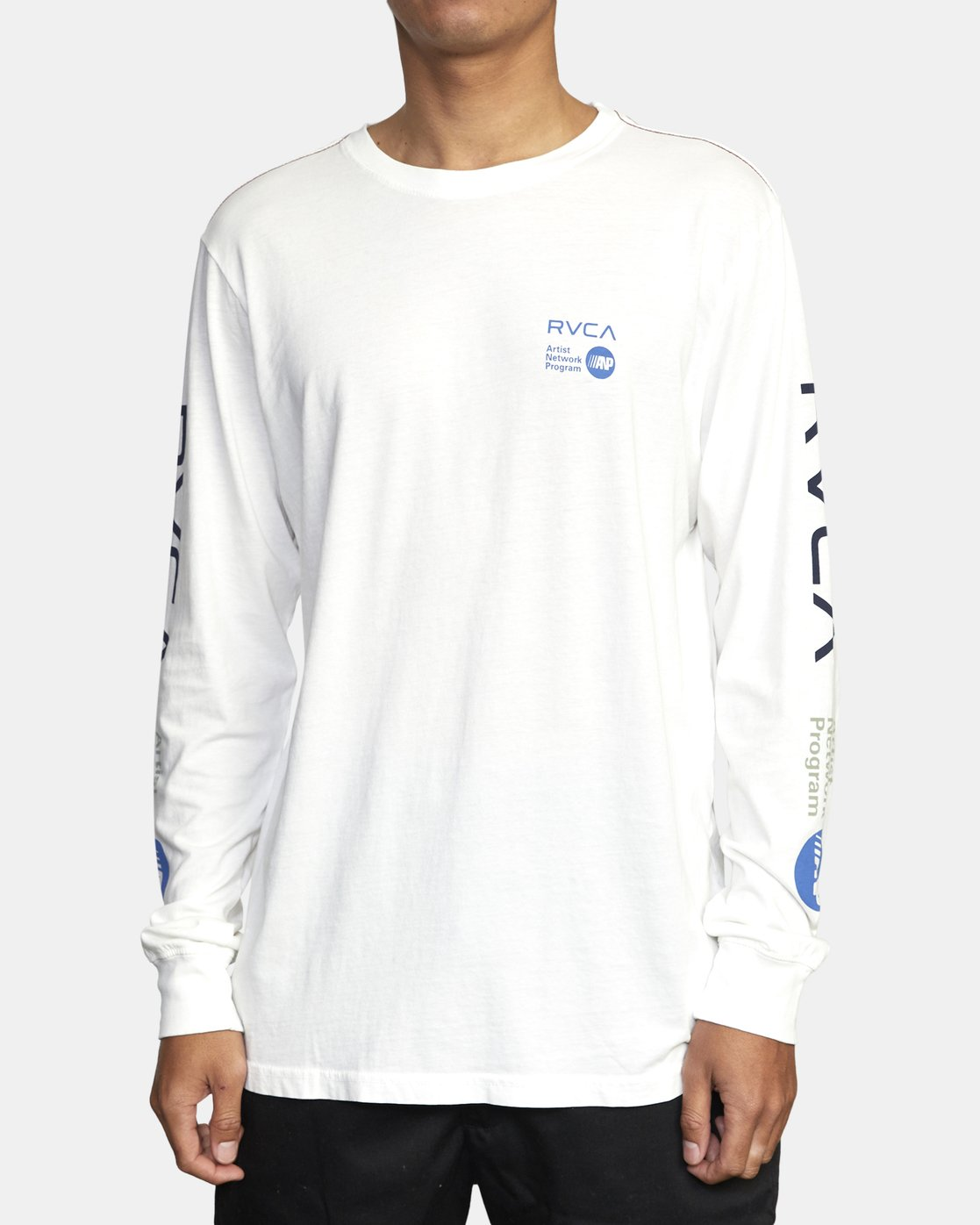 2 ANP LONG SLEEVE TEE White M4631RAN RVCA