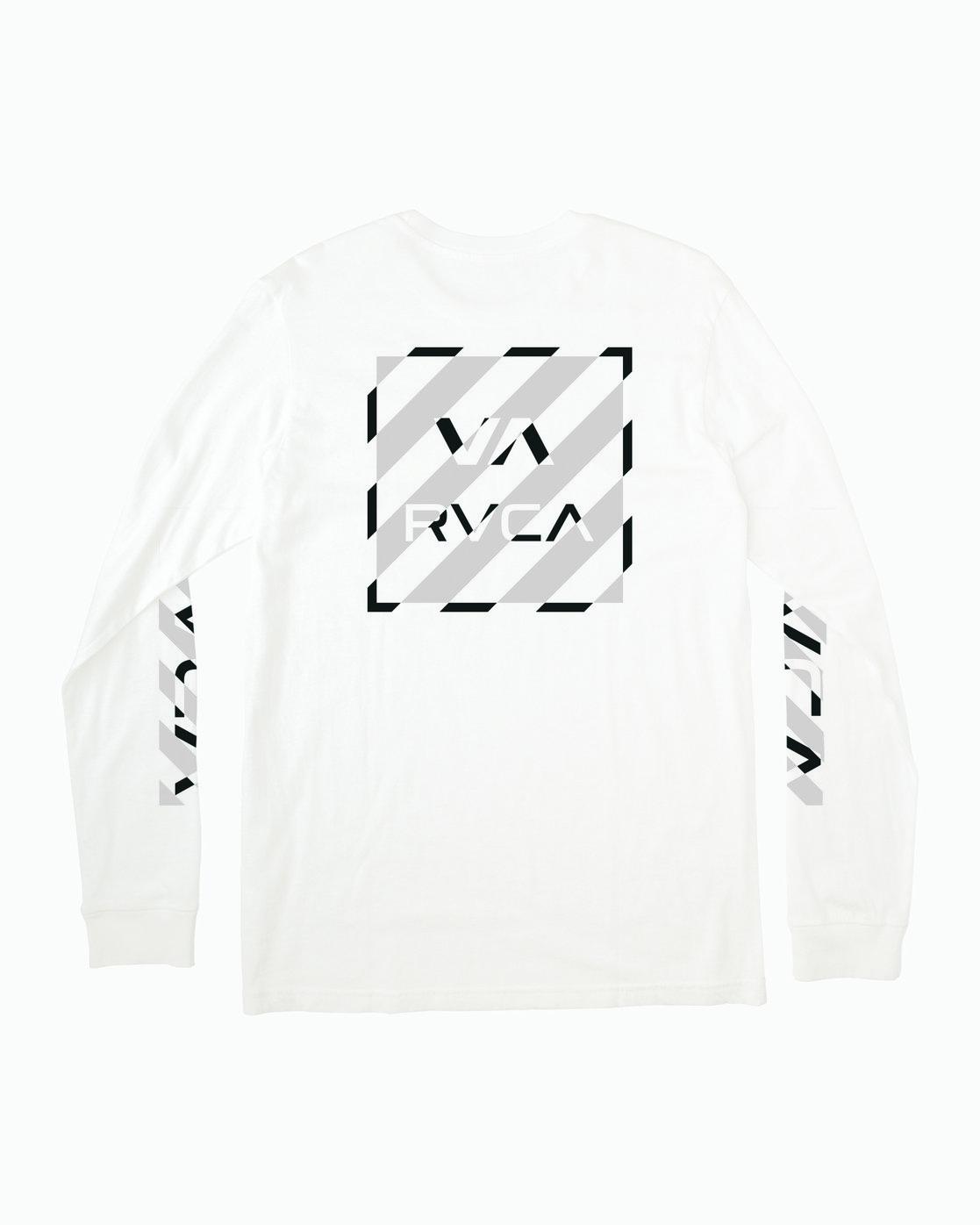 1 HAZARD LONG SLEEVE T-SHIRT White M4631RHA RVCA