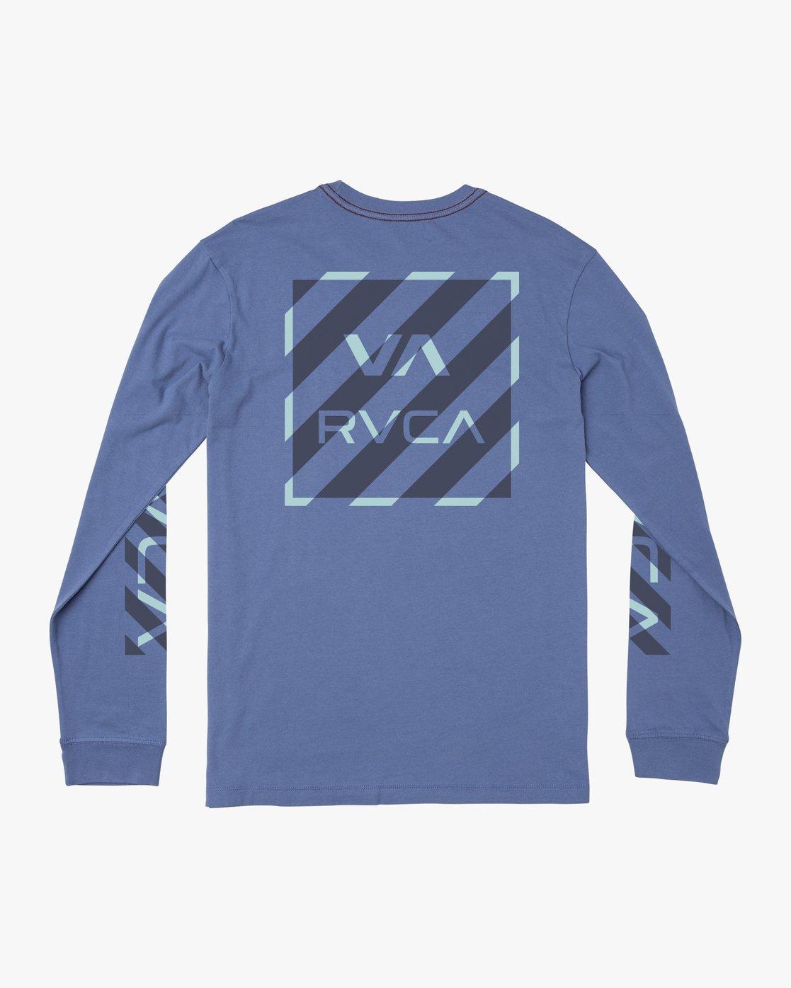 1 HAZARD LONG SLEEVE T-SHIRT Blue M4631RHA RVCA