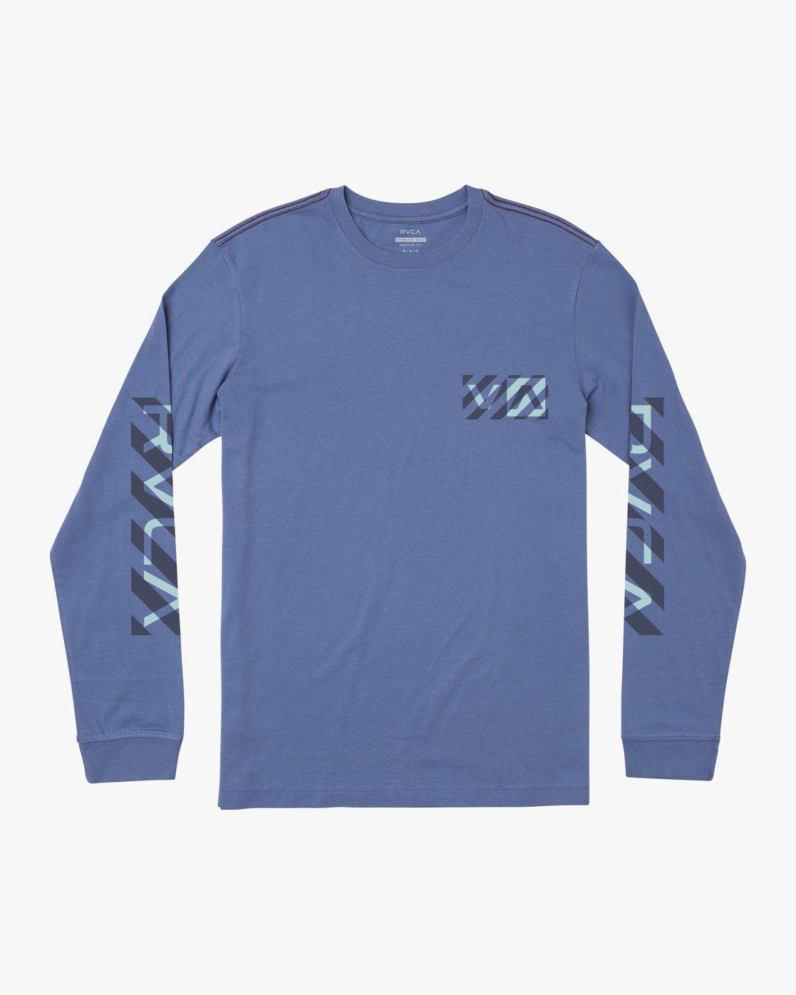 0 HAZARD LONG SLEEVE T-SHIRT Blue M4631RHA RVCA