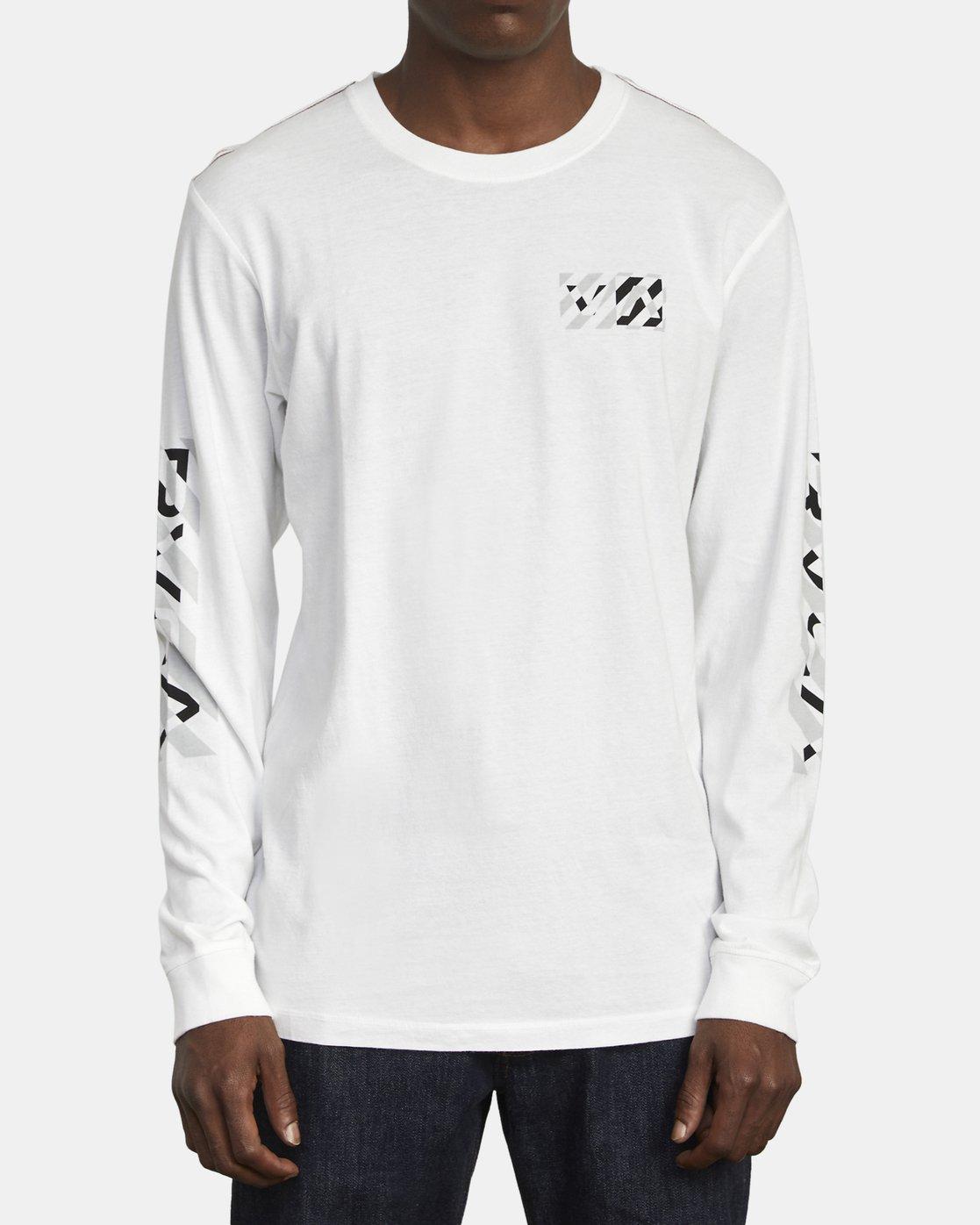 2 HAZARD LONG SLEEVE T-SHIRT White M4631RHA RVCA