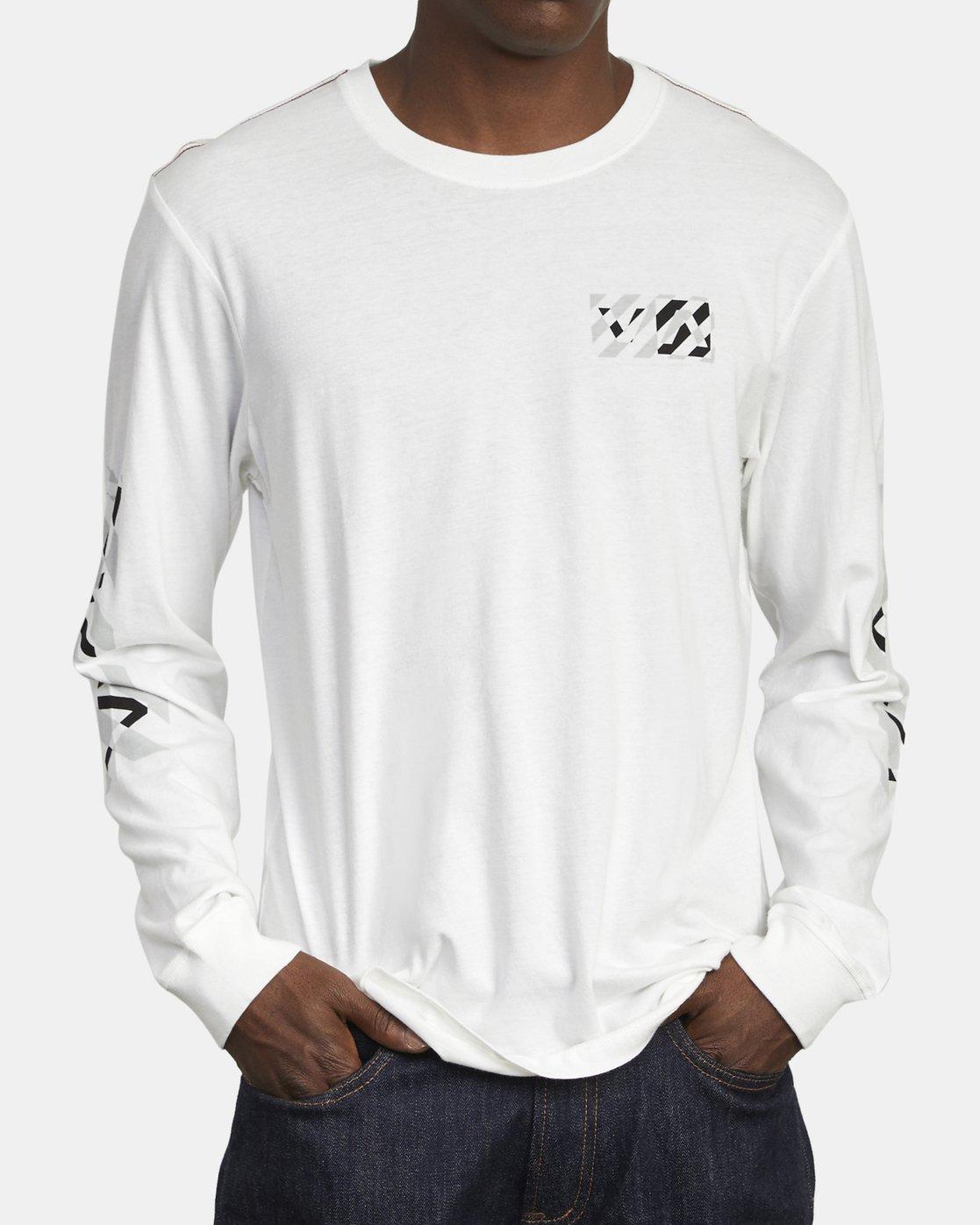 3 HAZARD LONG SLEEVE T-SHIRT White M4631RHA RVCA