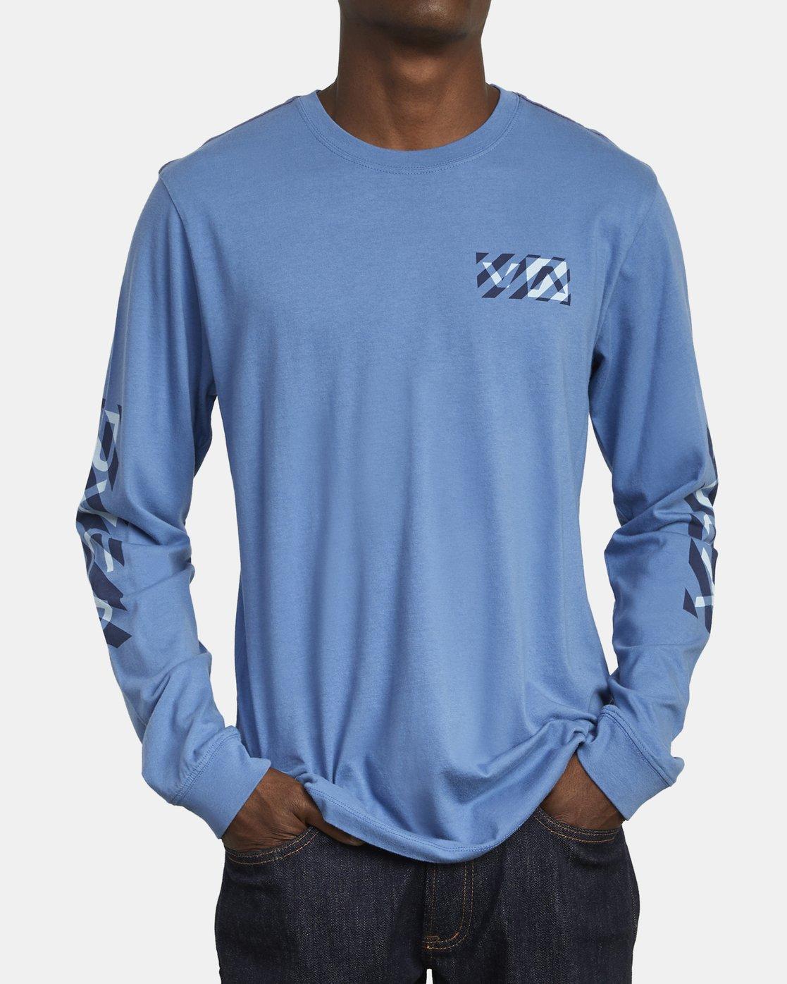 3 HAZARD LONG SLEEVE T-SHIRT Blue M4631RHA RVCA