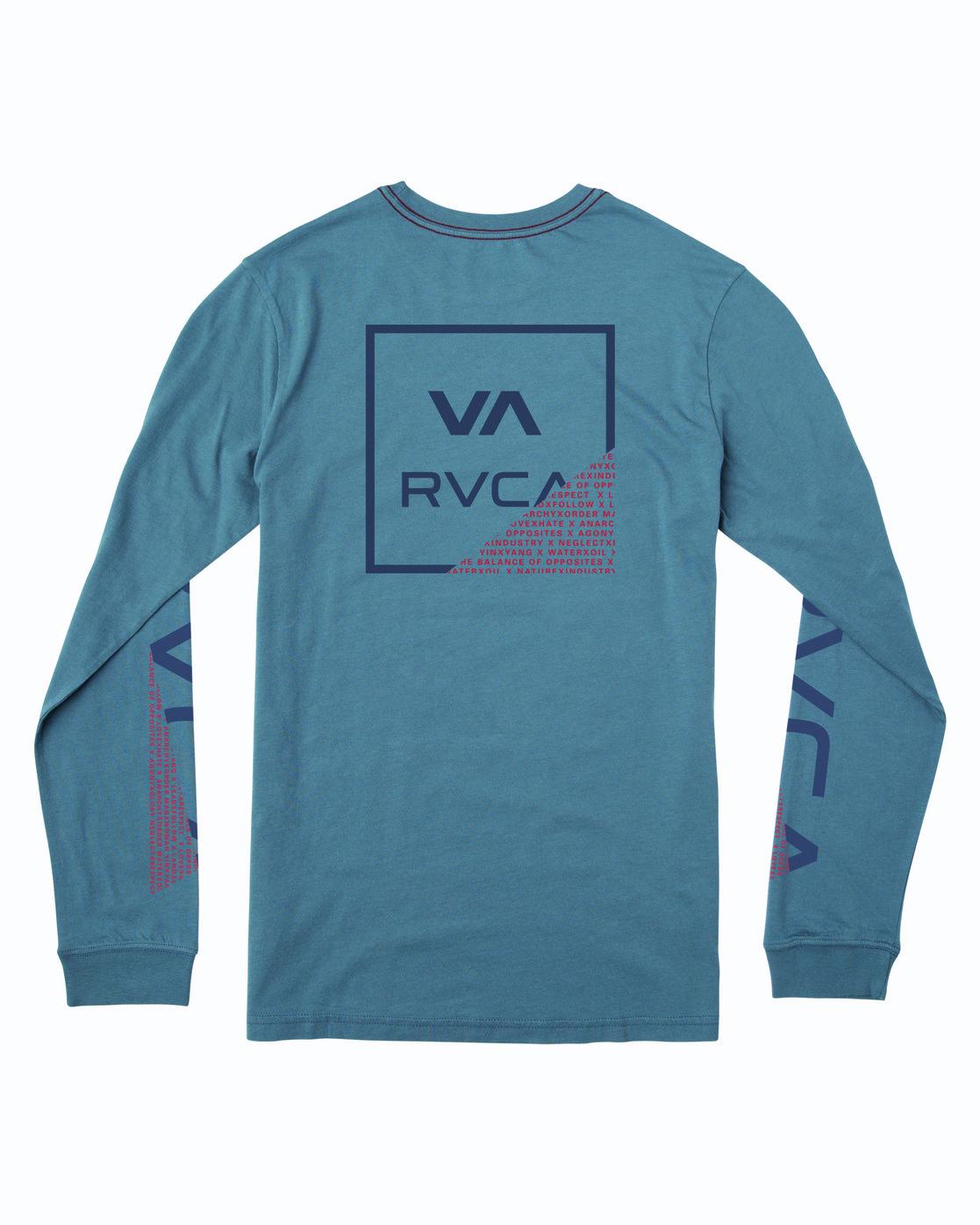 1 FRACTION LONG SLEEVE TEE Blue M4633RFR RVCA