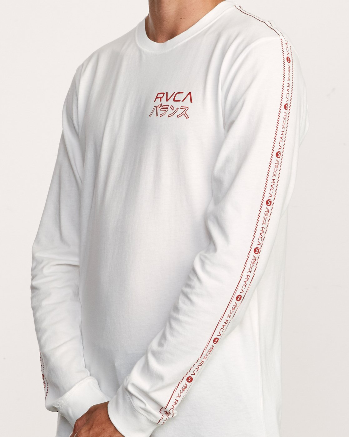 5 Int Haz Long Sleeve T-Shirt White M463VRIH RVCA