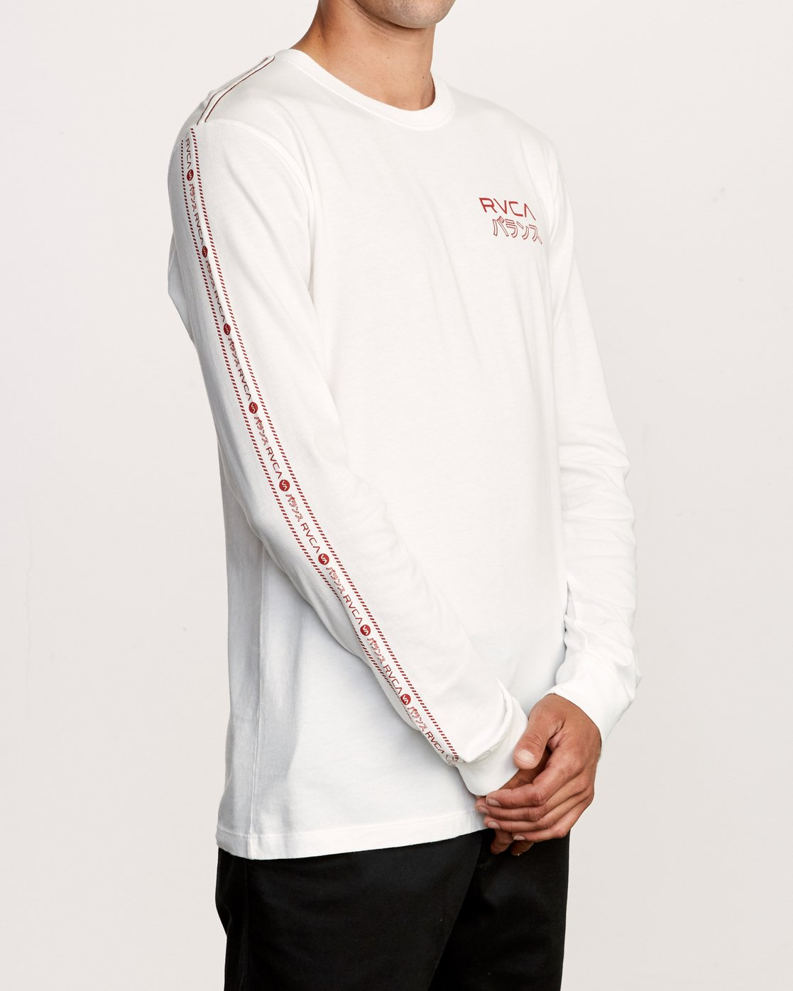 3 Int Haz Long Sleeve T-Shirt White M463VRIH RVCA