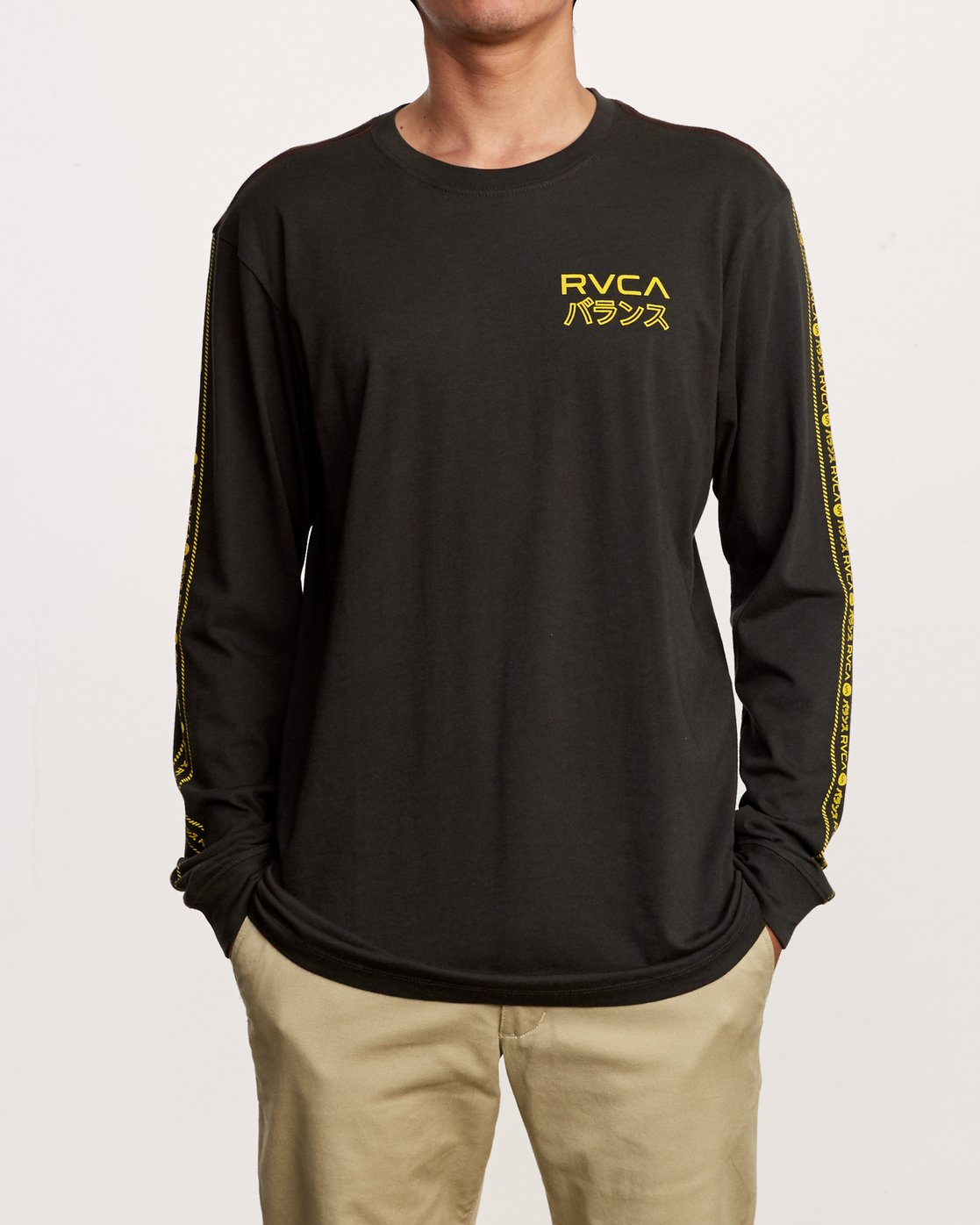 1 Int Haz Long Sleeve T-Shirt Black M463VRIH RVCA