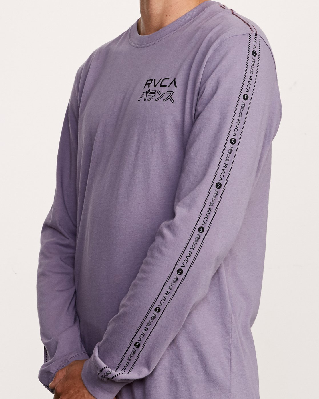 5 Int Haz Long Sleeve T-Shirt Purple M463VRIH RVCA