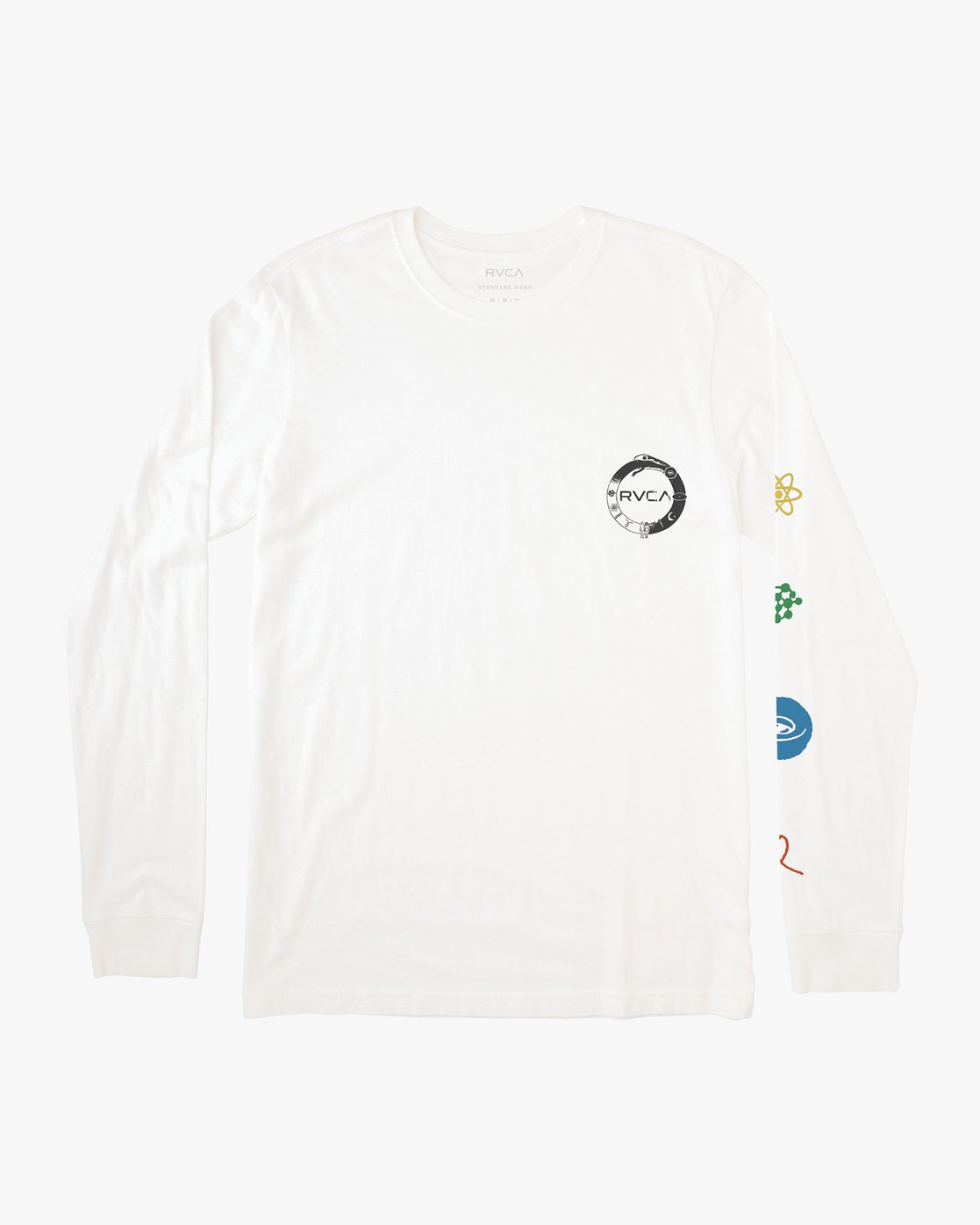 1 Infinity Long Sleeve T-Shirt White M463VRIN RVCA