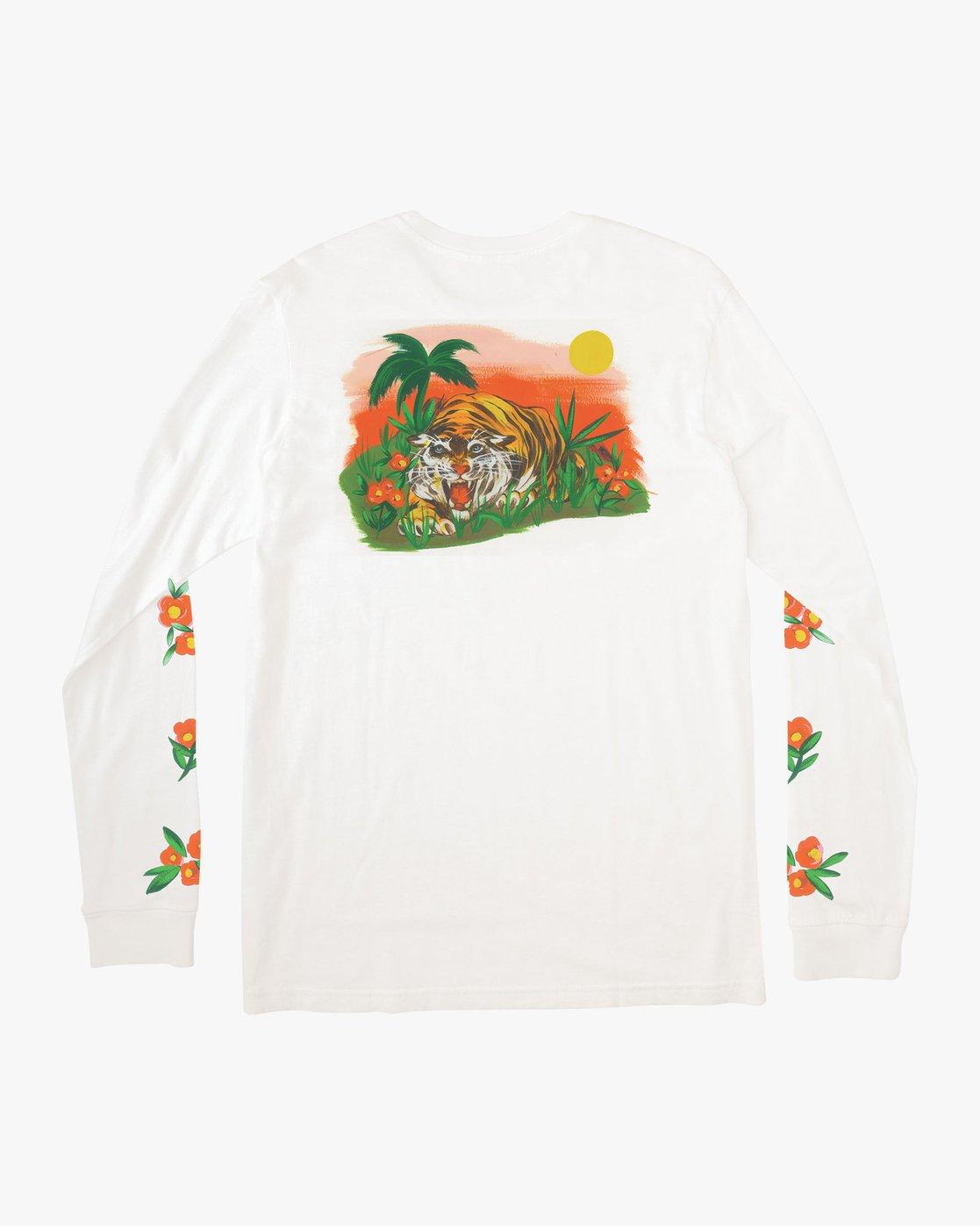 0 Grisancich Jungle Long Sleeve T-Shirt White M463VRJU RVCA