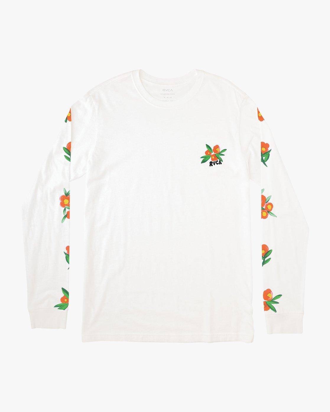 1 Grisancich Jungle Long Sleeve T-Shirt White M463VRJU RVCA