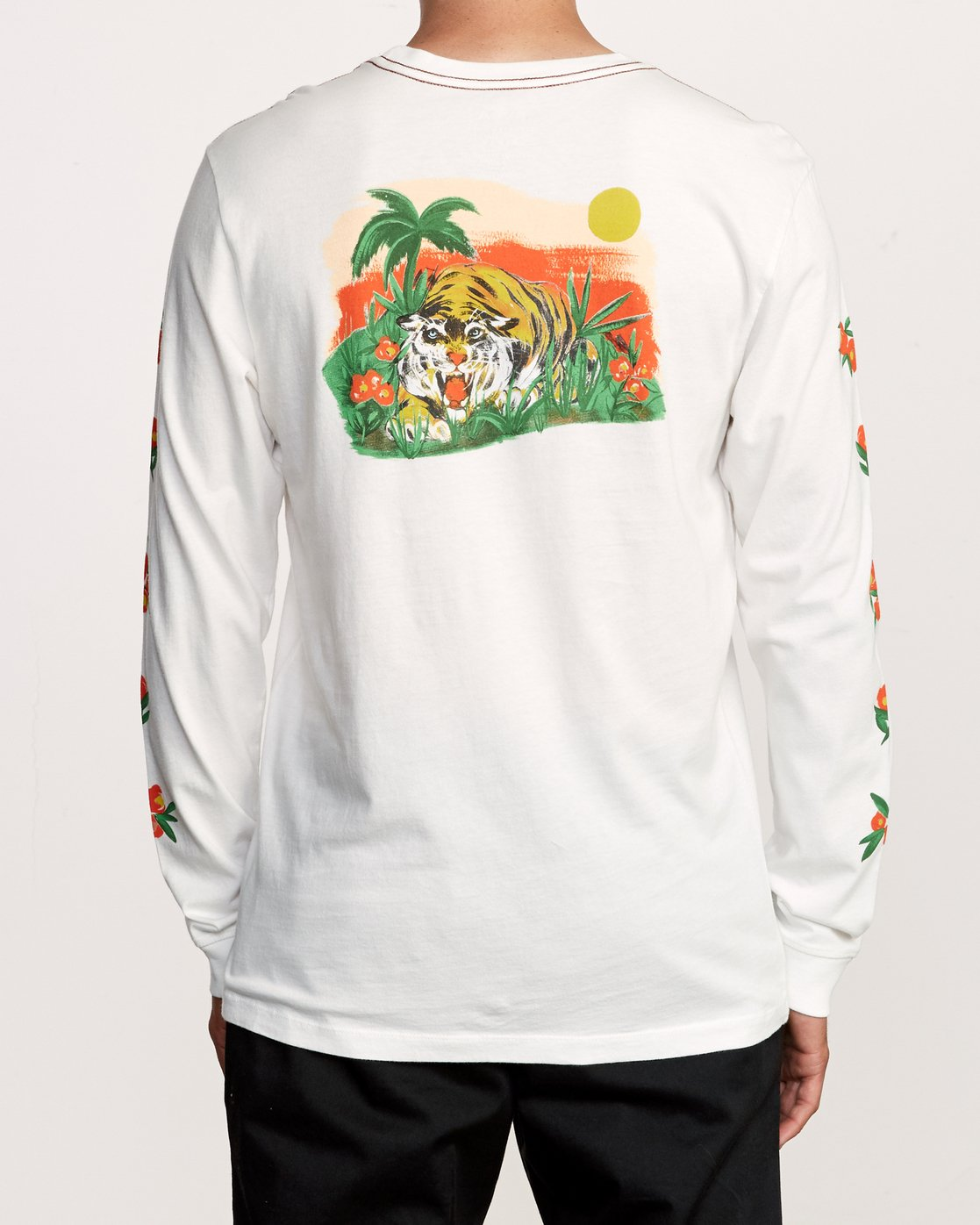 5 Grisancich Jungle Long Sleeve T-Shirt White M463VRJU RVCA
