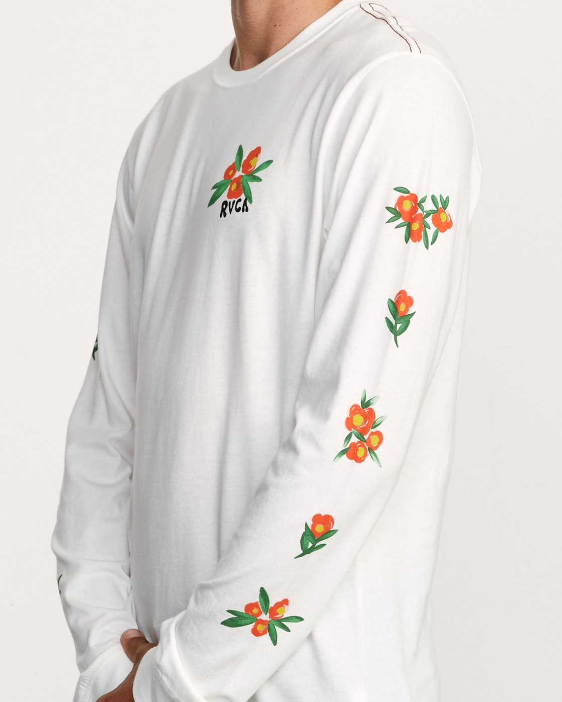 6 Grisancich Jungle Long Sleeve TEE White M463VRJU RVCA