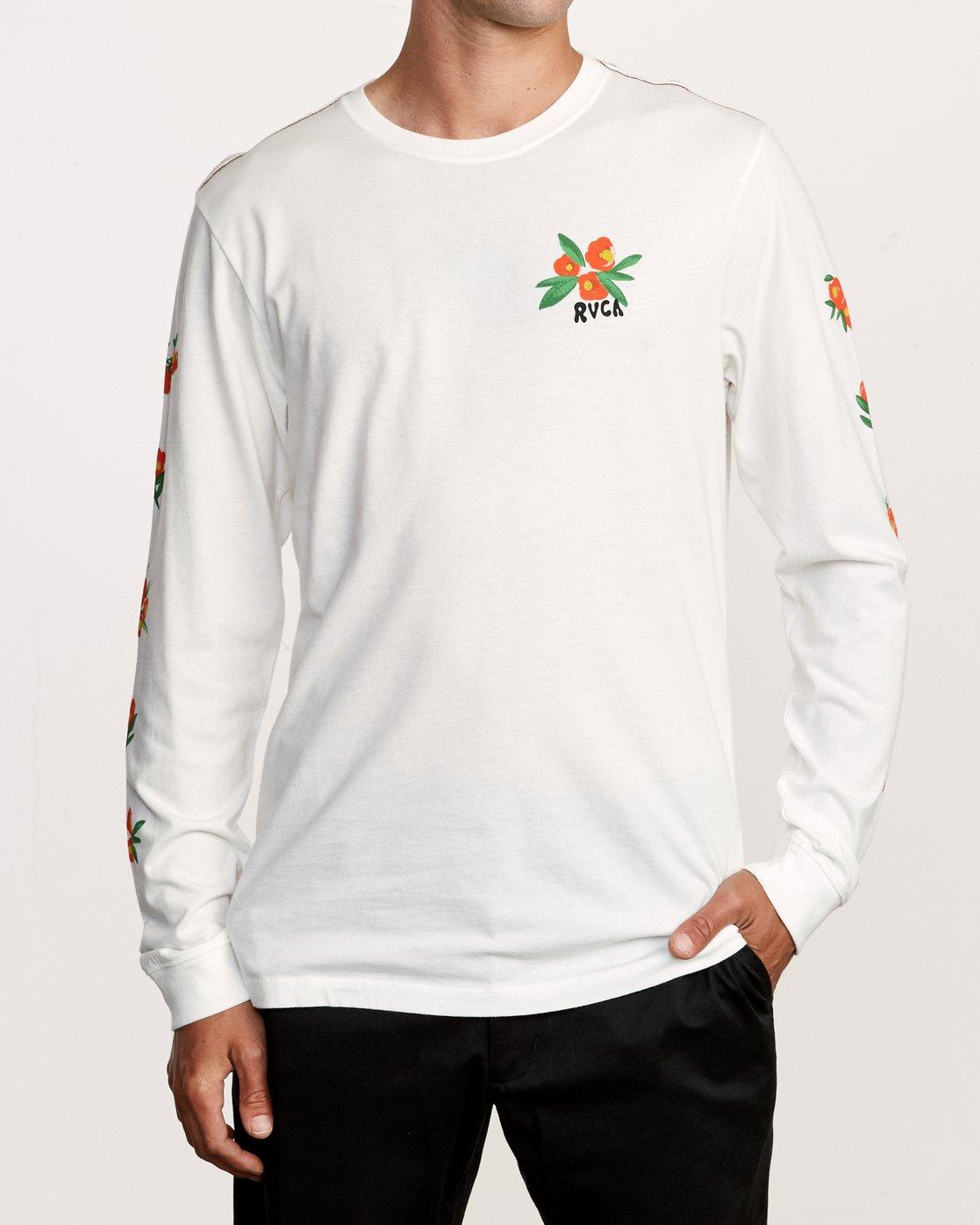 2 Grisancich Jungle Long Sleeve T-Shirt White M463VRJU RVCA