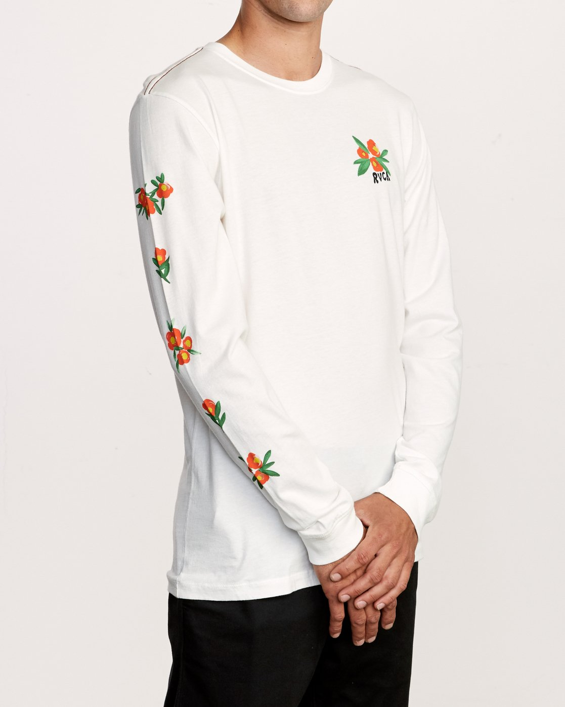 4 Grisancich Jungle Long Sleeve T-Shirt White M463VRJU RVCA