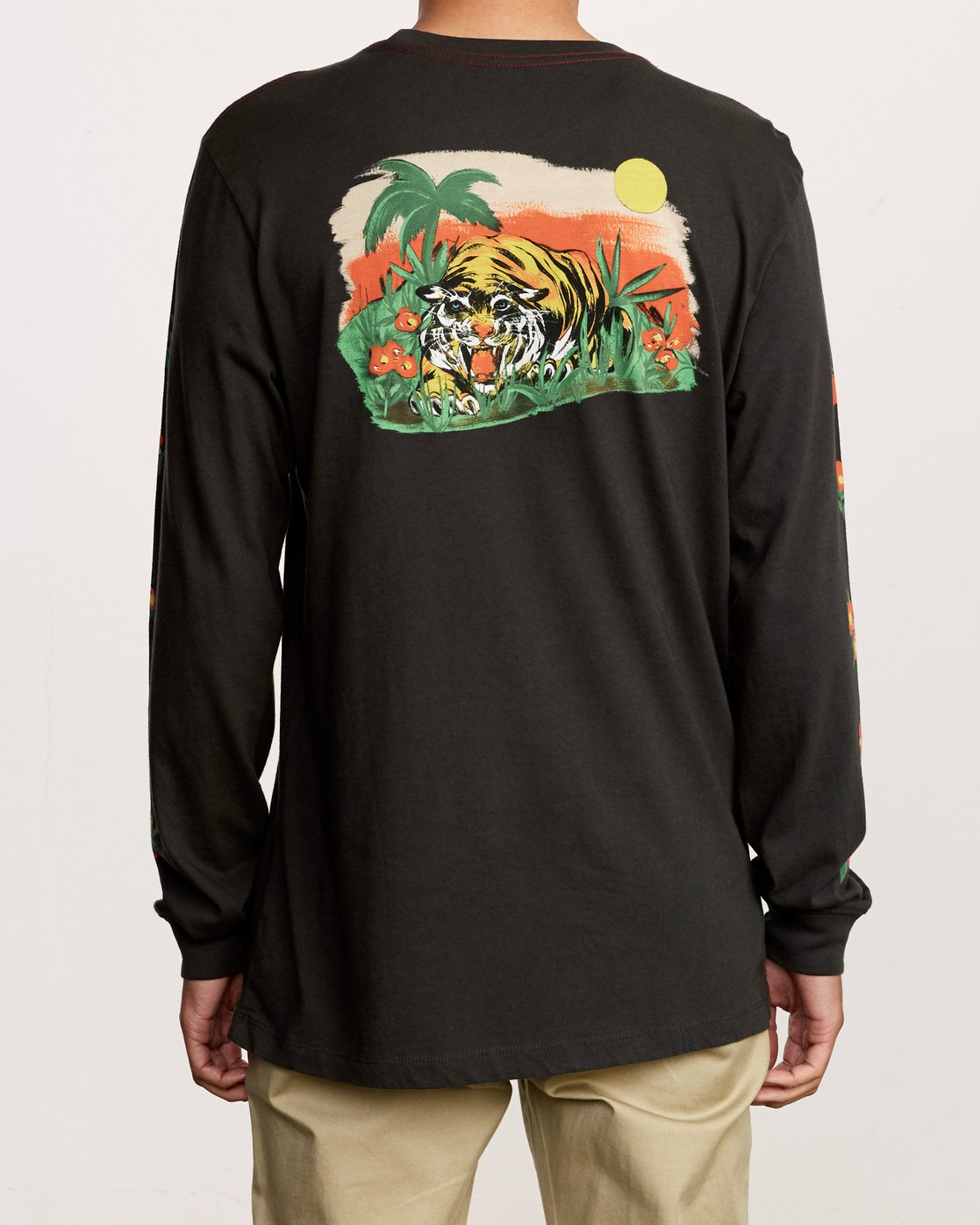 5 Grisancich Jungle Long Sleeve T-Shirt Black M463VRJU RVCA