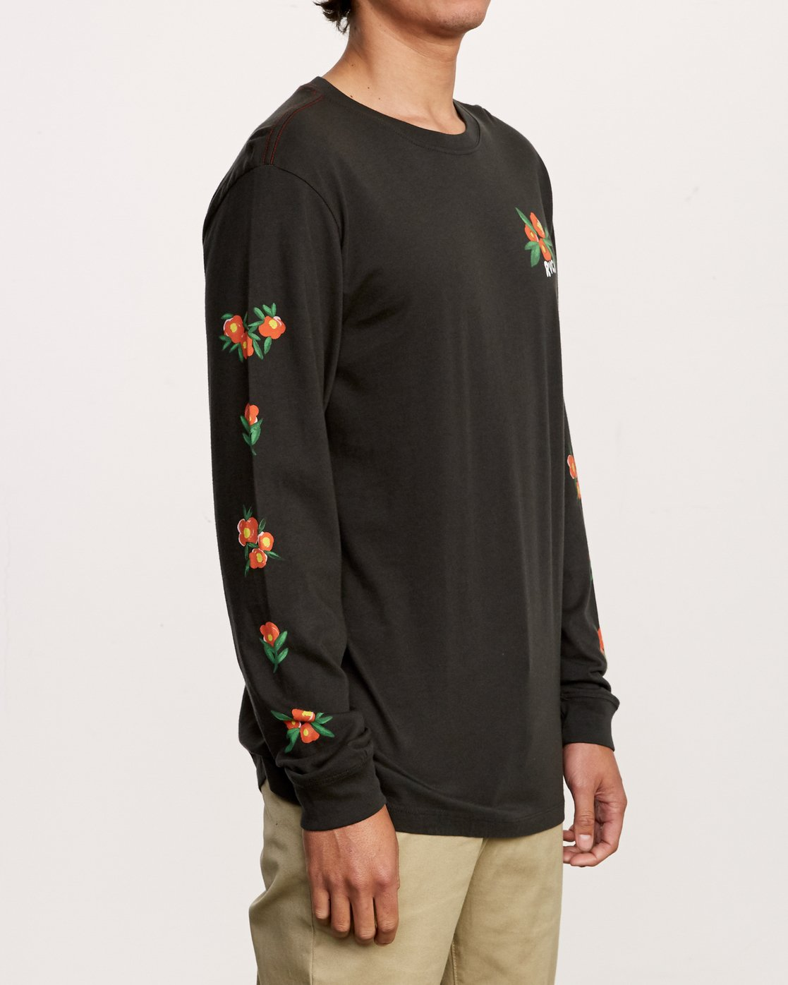 4 Grisancich Jungle Long Sleeve T-Shirt Black M463VRJU RVCA