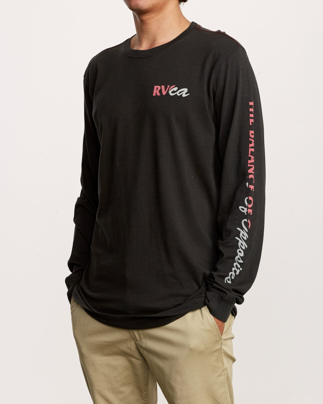 3 Teared Long Sleeve T-Shirt Black M463VRTE RVCA