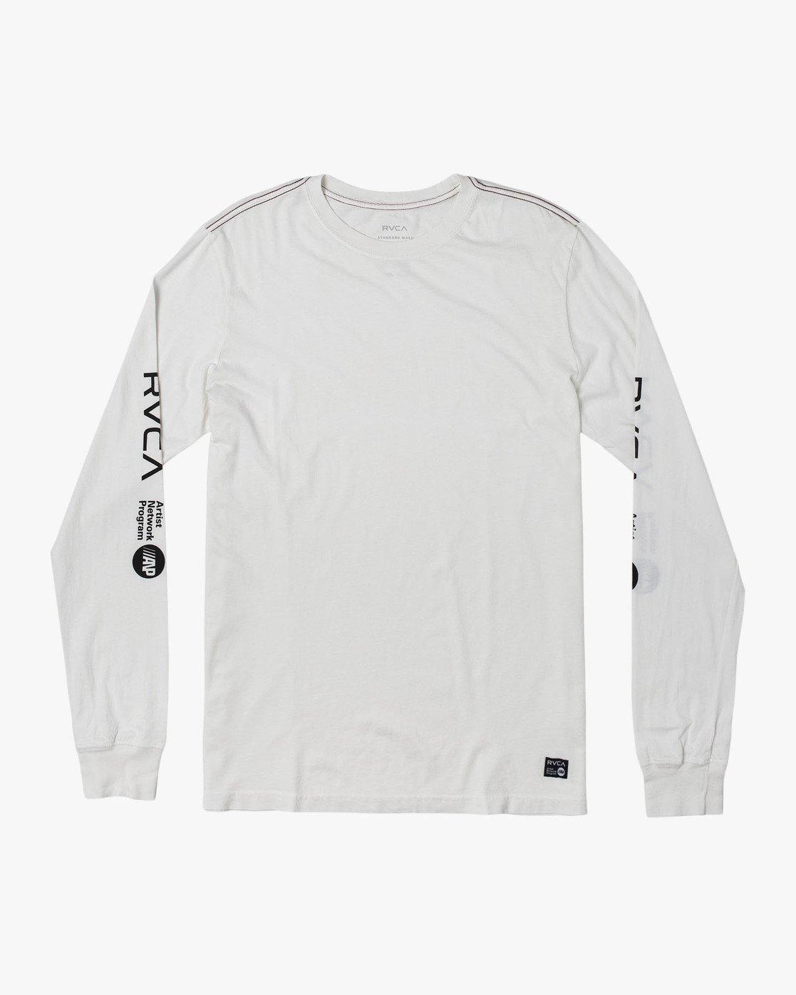 0 ANP Long Sleeve T-Shirt White M463WRAN RVCA