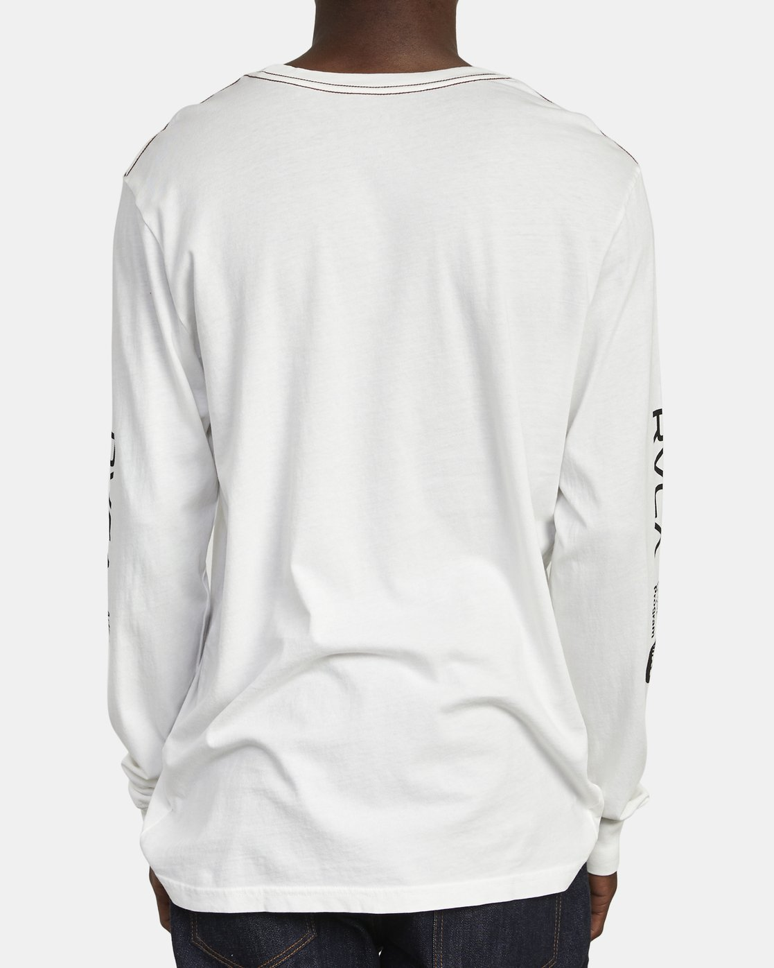 4 ANP Long Sleeve T-Shirt White M463WRAN RVCA