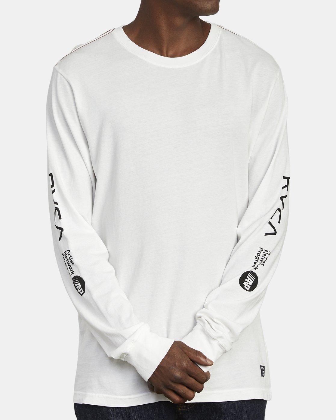 1 ANP Long Sleeve T-Shirt White M463WRAN RVCA