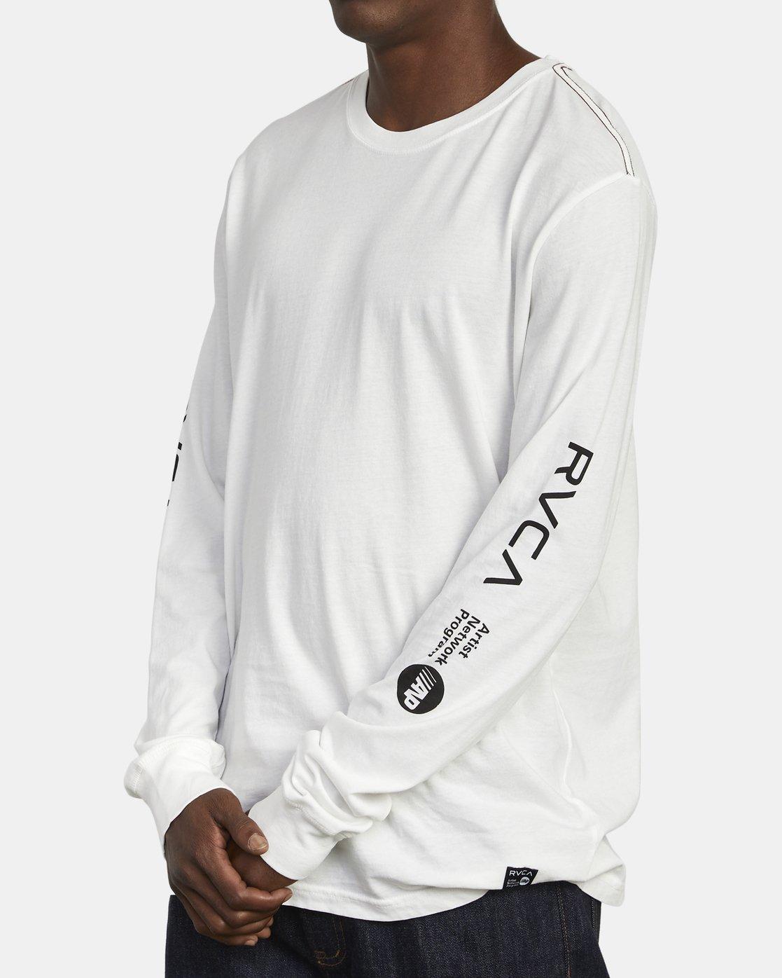2 ANP Long Sleeve T-Shirt White M463WRAN RVCA