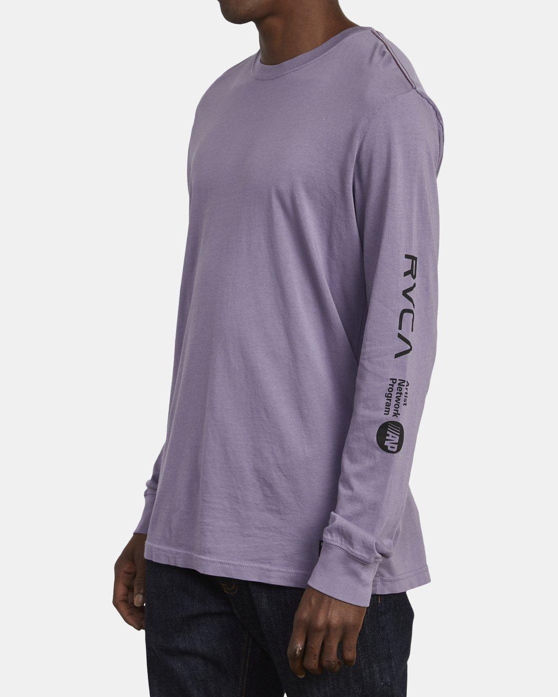 2 ANP Long Sleeve T-Shirt Purple M463WRAN RVCA