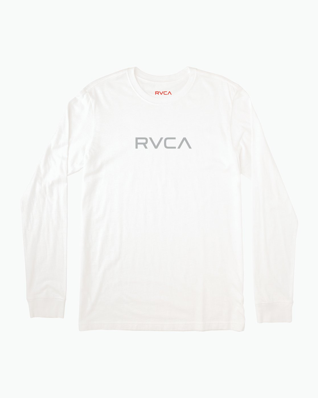 0 Small RVCA Embroidered Long Sleeve T-Shirt White M465SRSM RVCA