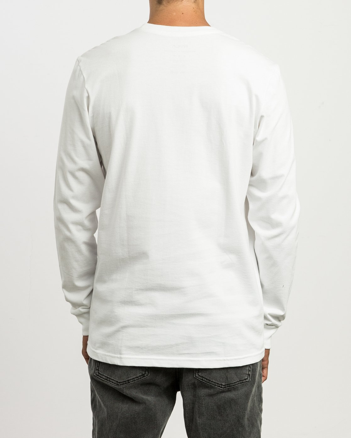 3 Small RVCA Embroidered Long Sleeve T-Shirt White M465SRSM RVCA