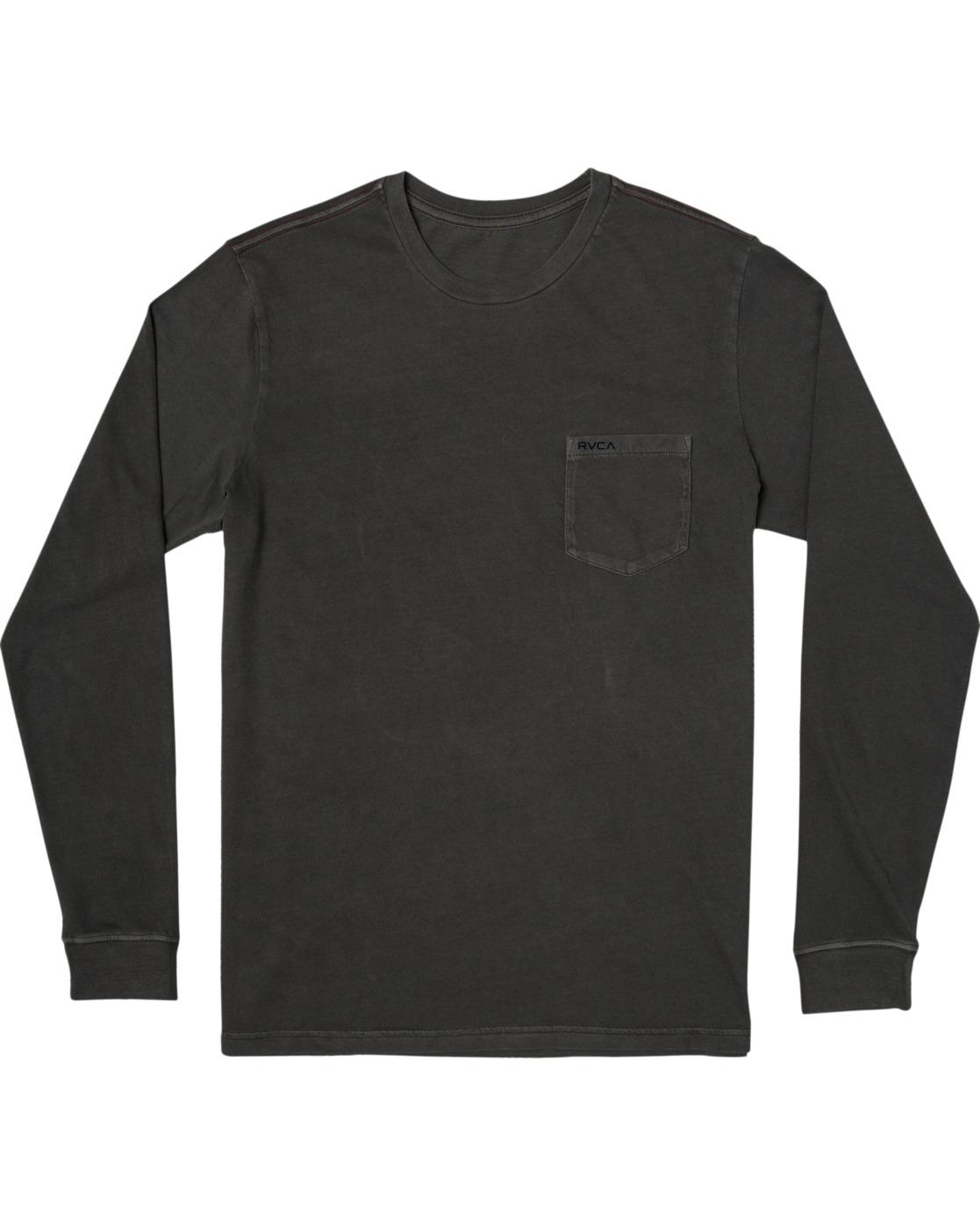 0 PTC Pigment Long Sleeve TEE Black M467TRPT RVCA