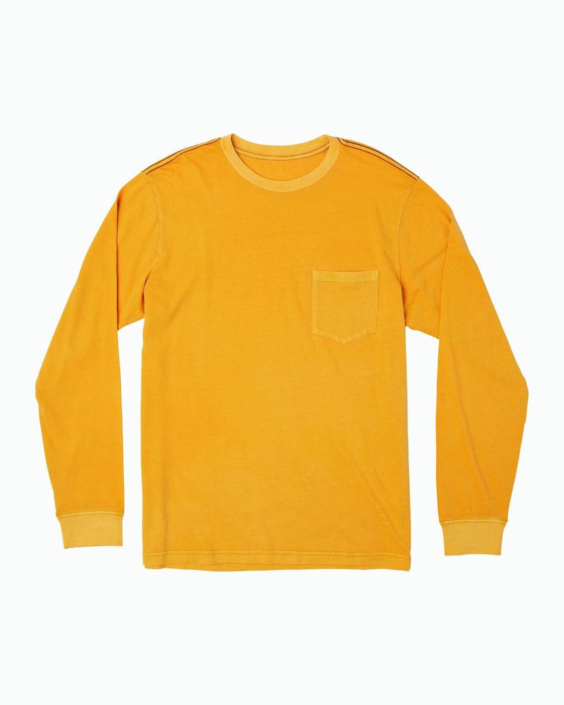 0 PTC Pigment Long Sleeve T-Shirt Red M467TRPT RVCA