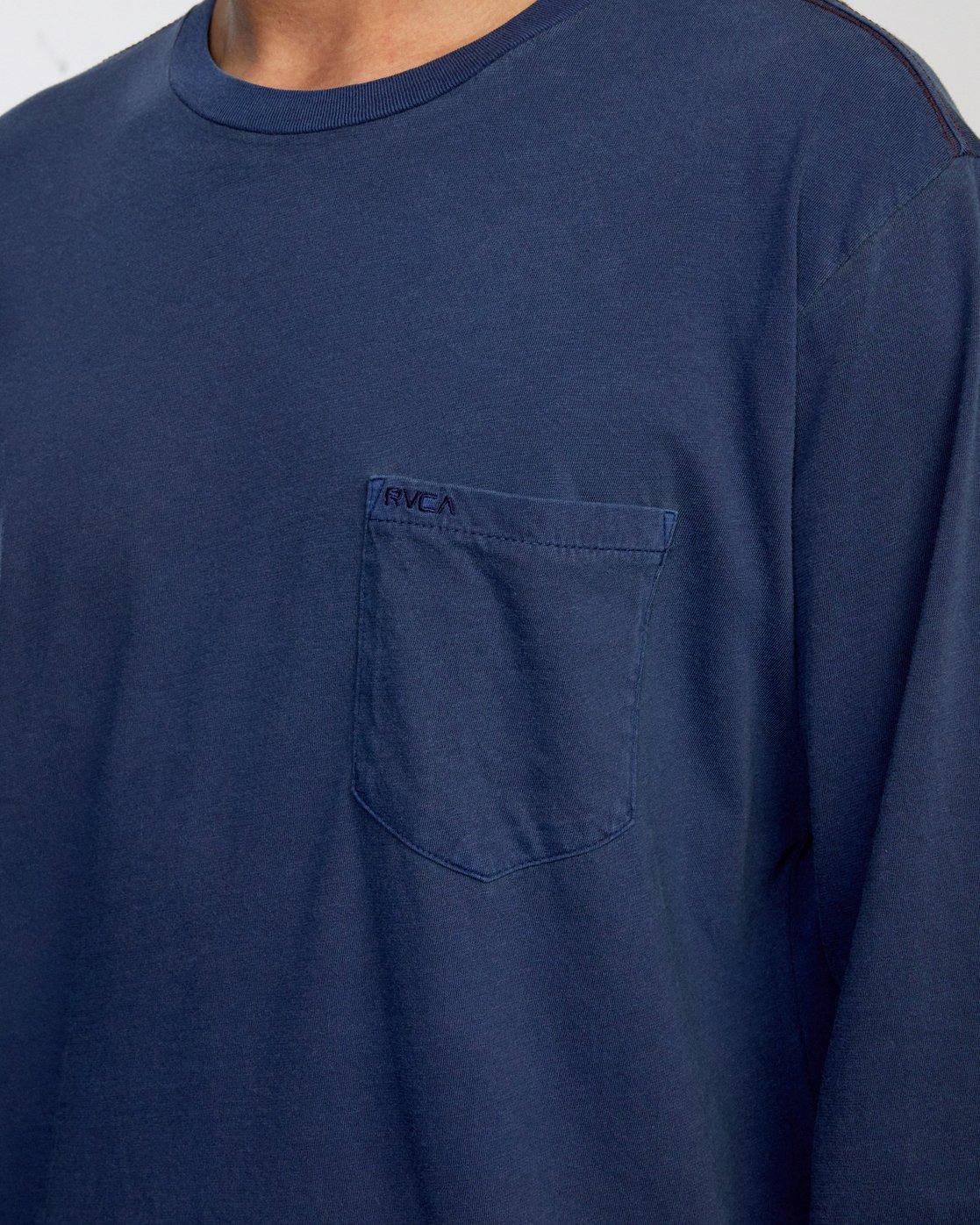 4 PTC PIGMENT LONG SLEEVE TEE Blue M467TRPT RVCA