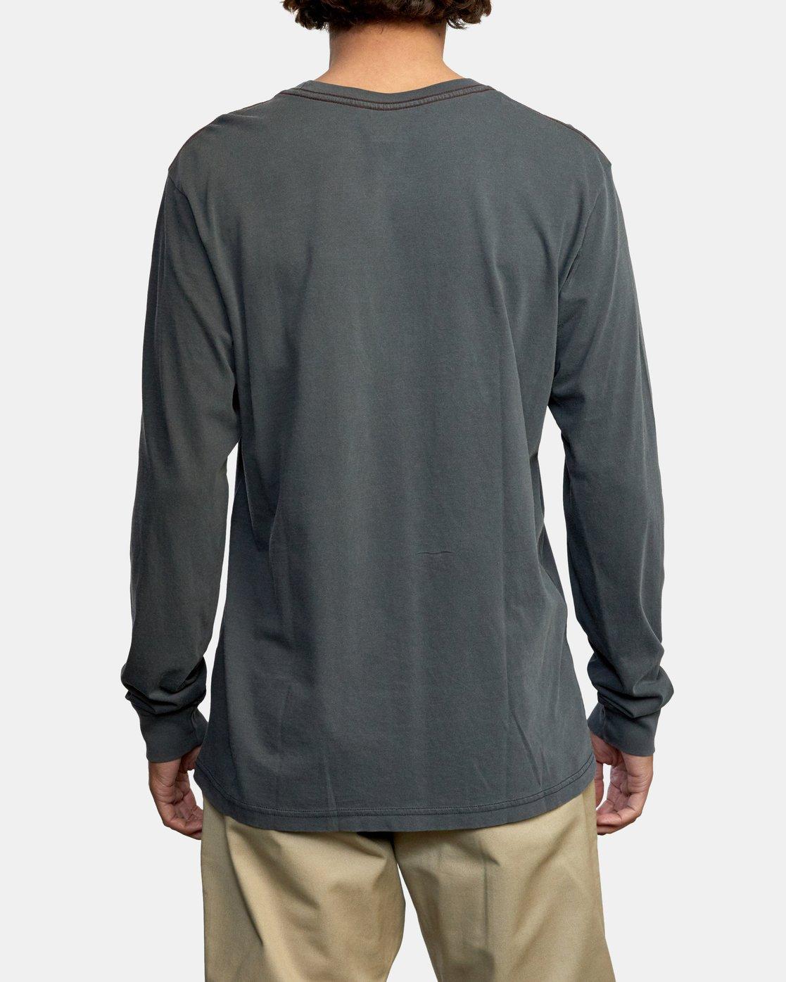 6 PTC Pigment Long Sleeve TEE Black M467TRPT RVCA