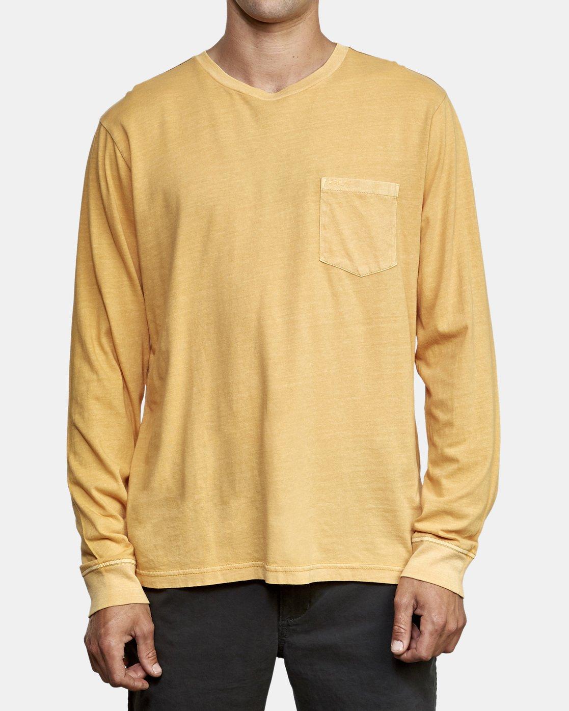 1 PTC Pigment Long Sleeve T-Shirt Red M467TRPT RVCA