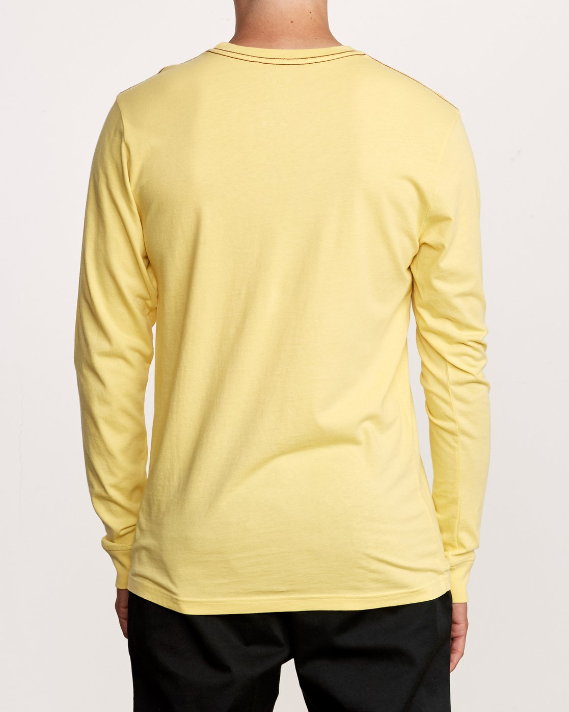 3 PTC Pigment Long Sleeve T-Shirt Yellow M467TRPT RVCA