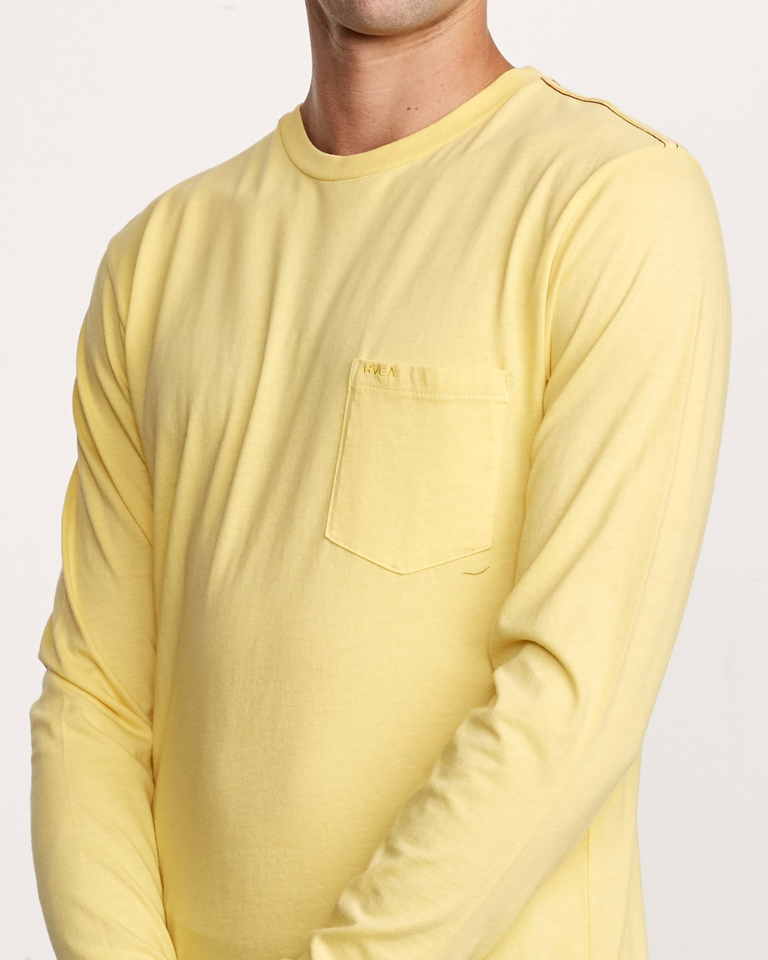 4 PTC Pigment Long Sleeve T-Shirt Yellow M467TRPT RVCA