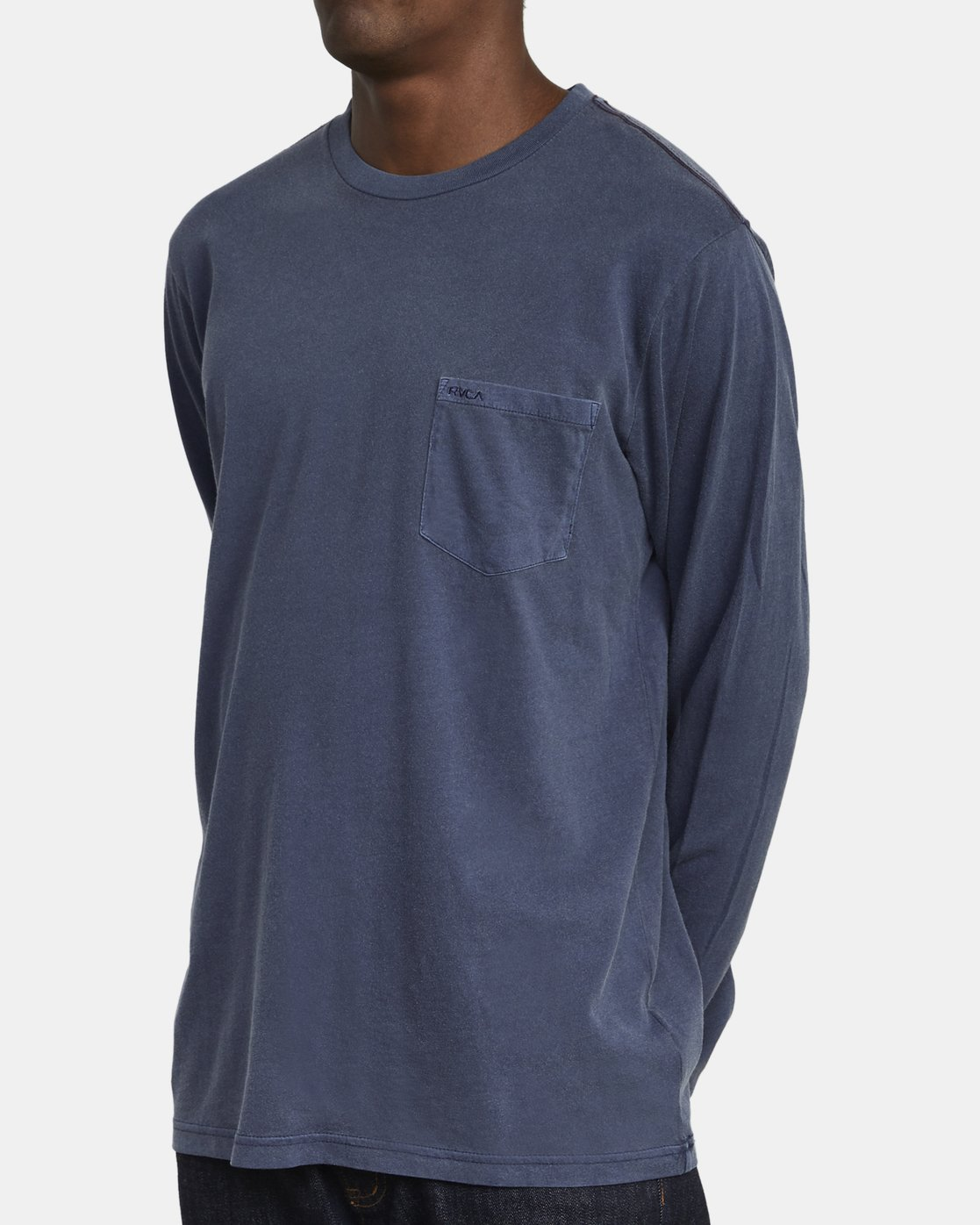 3 PTC PIGMENT LONG SLEEVE T-SHIRT Blue M467TRPT RVCA