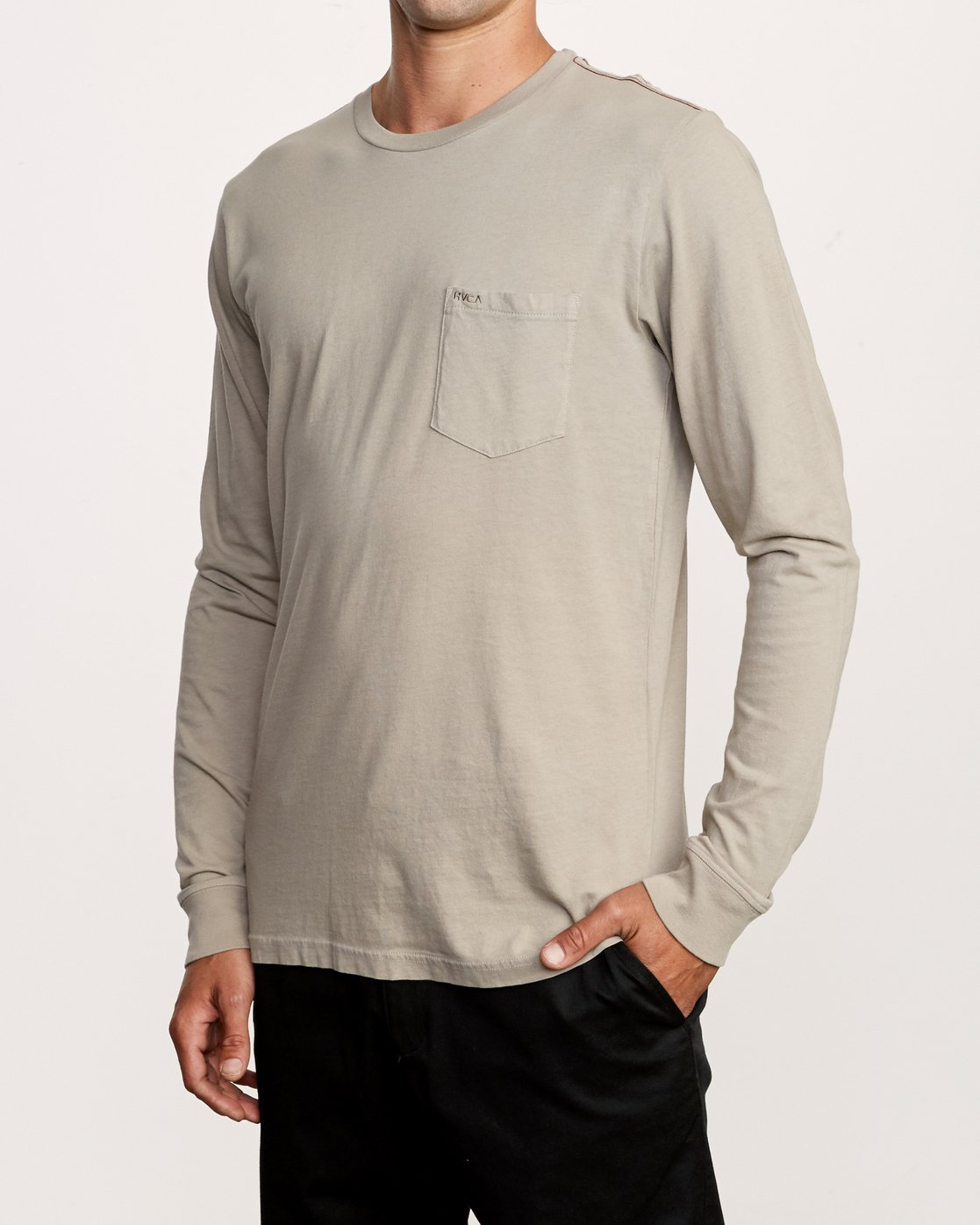2 PTC Pigment Long Sleeve T-Shirt Green M467TRPT RVCA