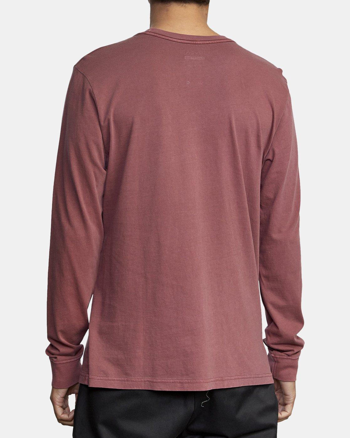 5 PTC PIGMENT LONG SLEEVE TEE Red M467TRPT RVCA