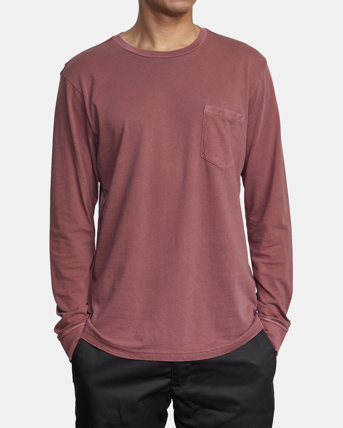 1 PTC PIGMENT LONG SLEEVE TEE Red M467TRPT RVCA