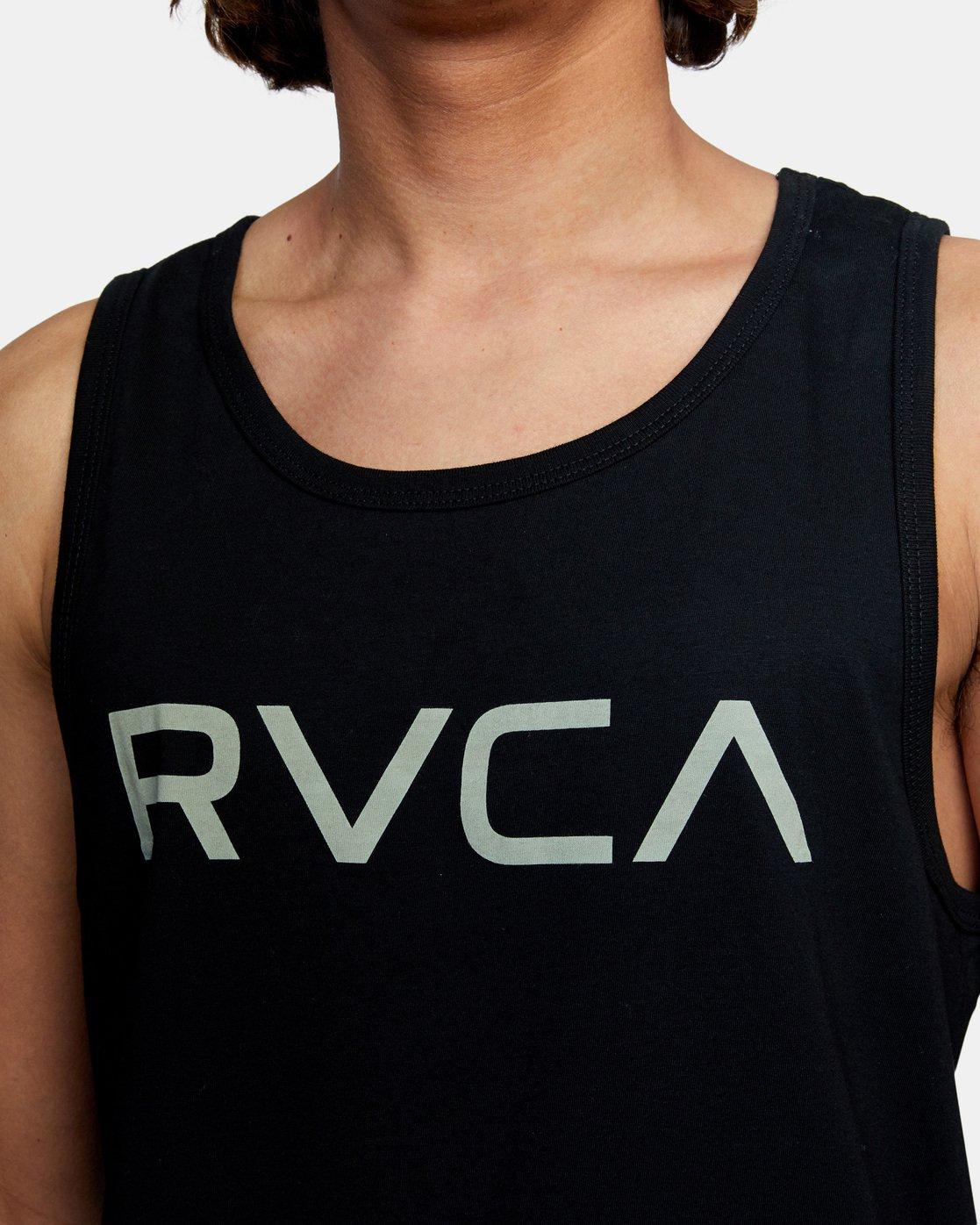 5 BIG RVCA TANK TOP Black M4812RBI RVCA
