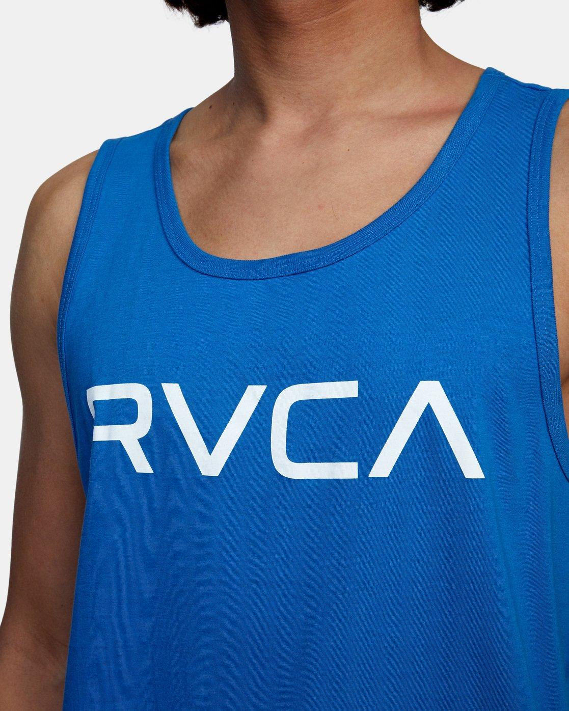 4 BIG RVCA TANK TOP Blue M4812RBI RVCA