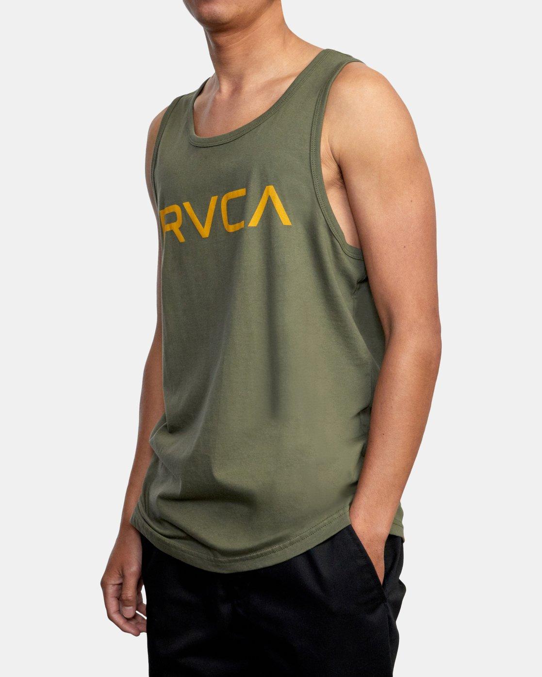 4 BIG RVCA TANK TOP Green M4812RBI RVCA