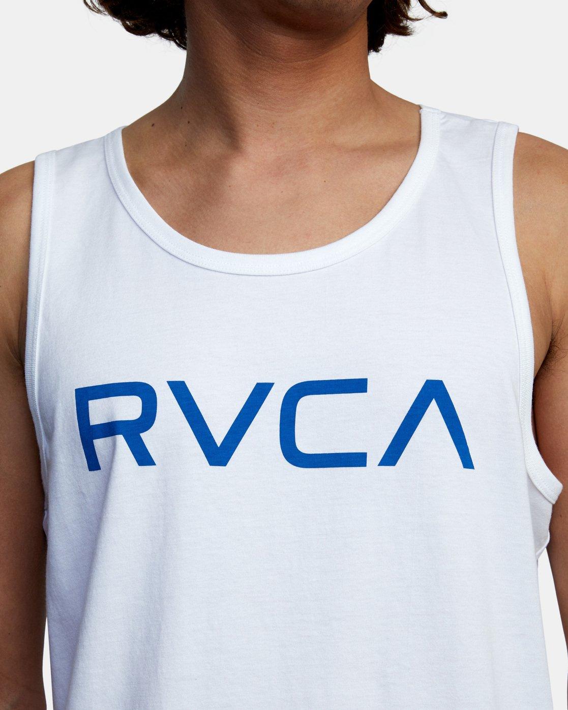 5 BIG RVCA TANK TOP White M4812RBI RVCA