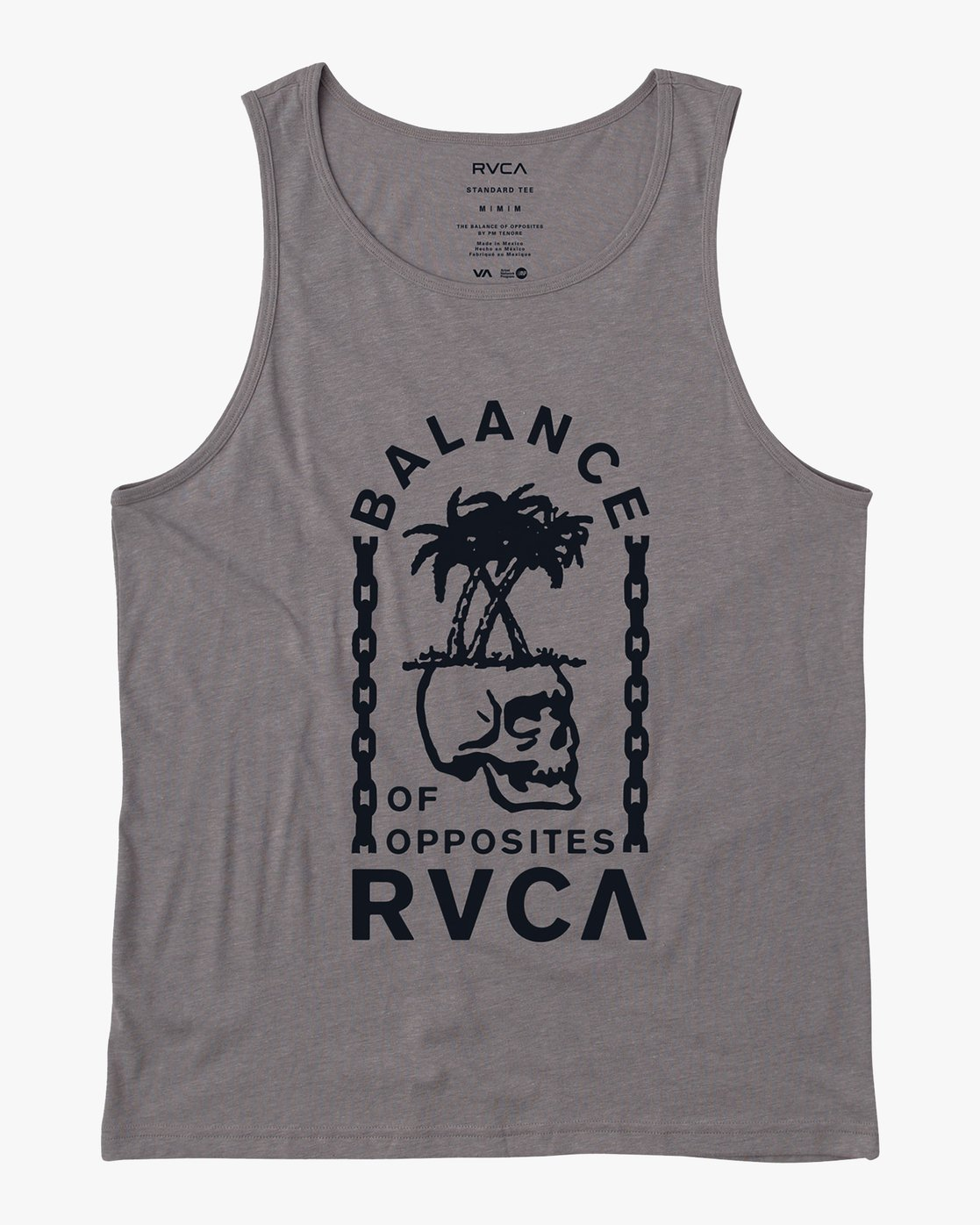0 Bad Palms Tank Top Grey M481URBA RVCA